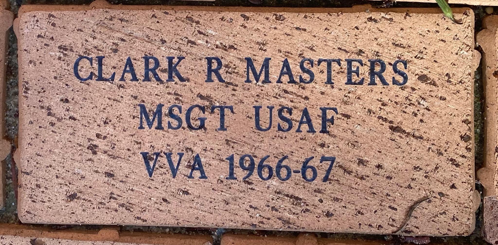 CLARK R MASTERS MSGT USAF VVA 1966-67