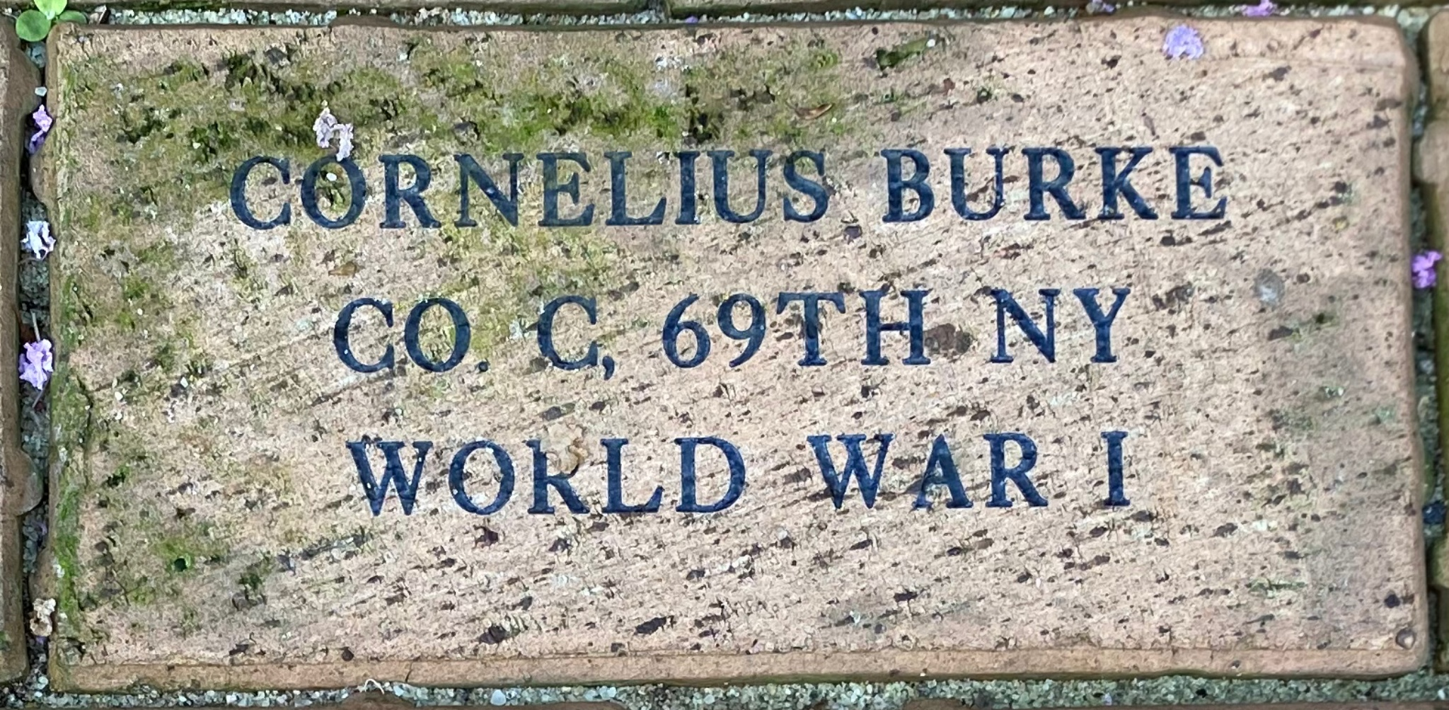 CORNELIUS BURKE CO. C, 69TH NY WORLD WAR I