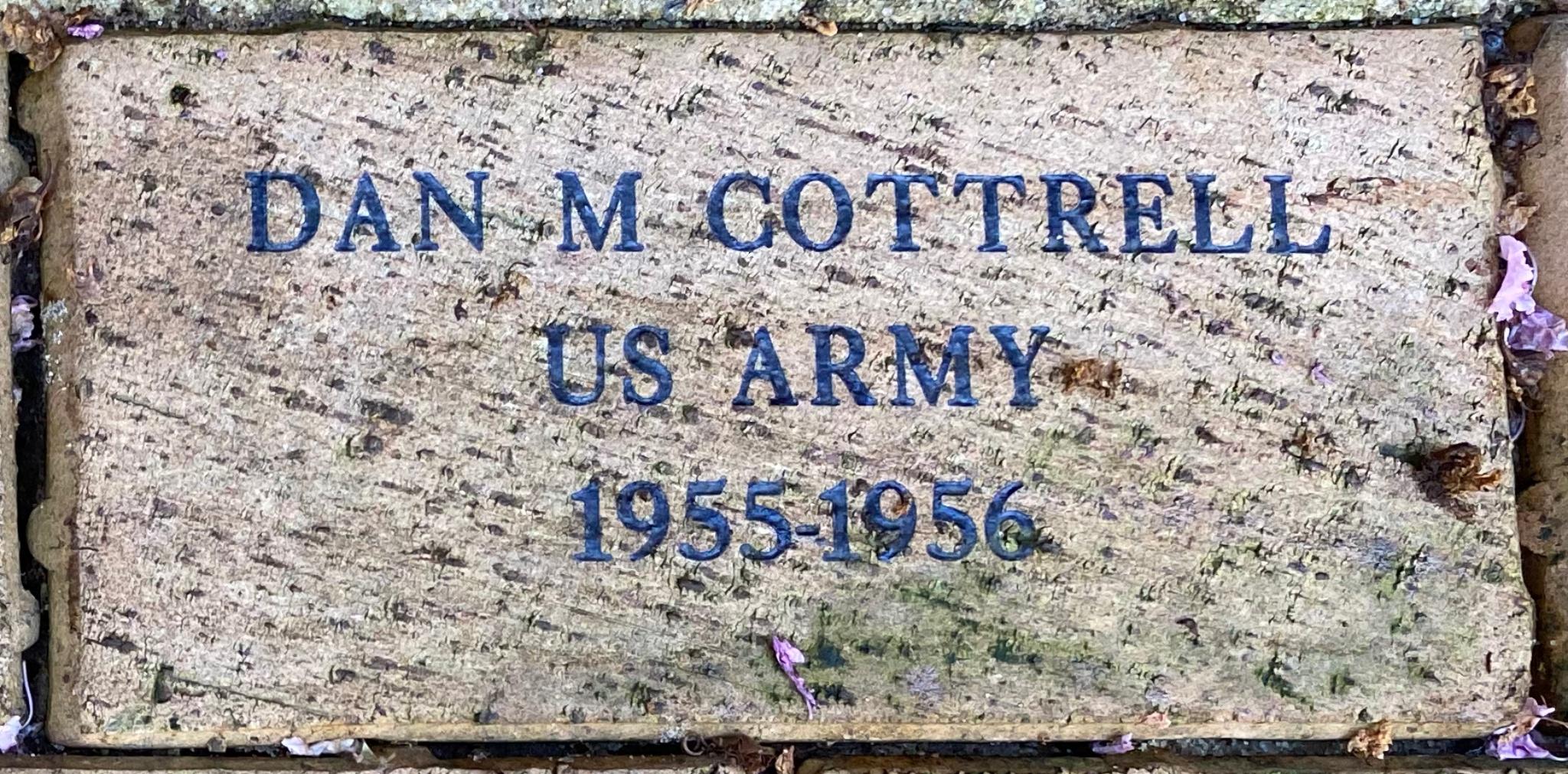 DAN M COTTRELL US ARMY 1955-1956