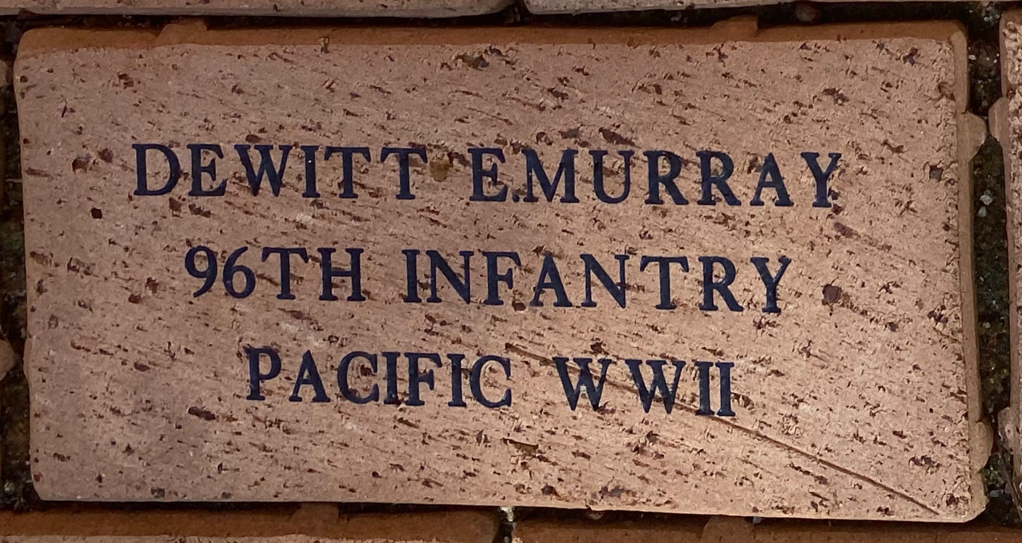 DEWITT E.MURRAY 96TH INFANTRY PACIFIC WWII