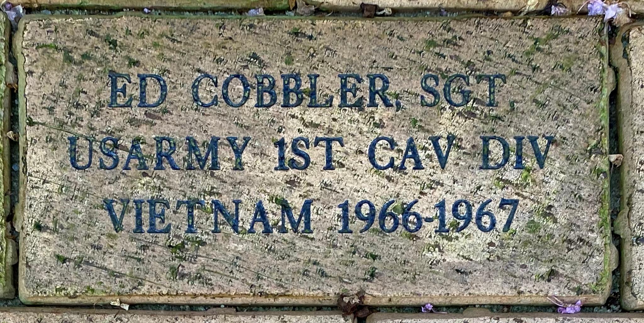 ED COBBLER, SGT USARMY 1ST CAV DIV VIETNAM 1966-1967
