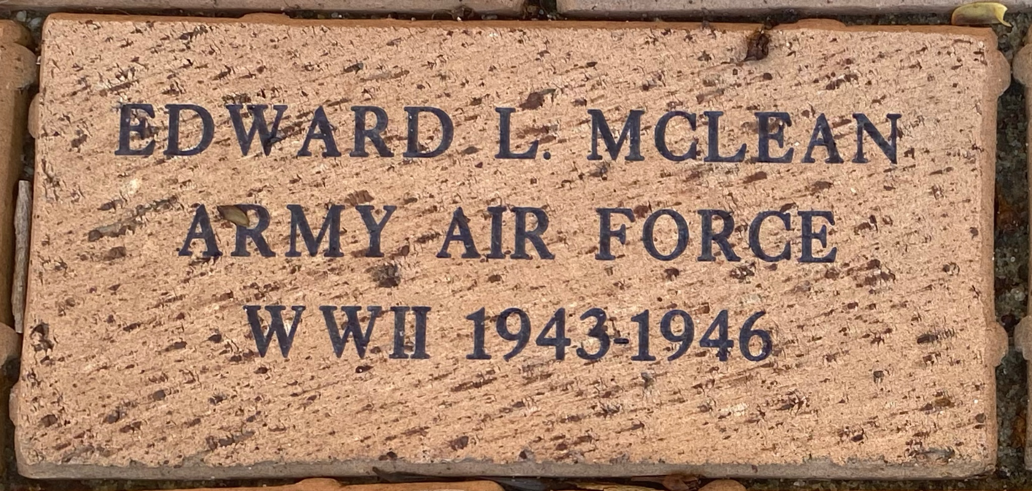 EDWARD L. MCLEAN ARMY AIR FORCE WWII 1943-1946