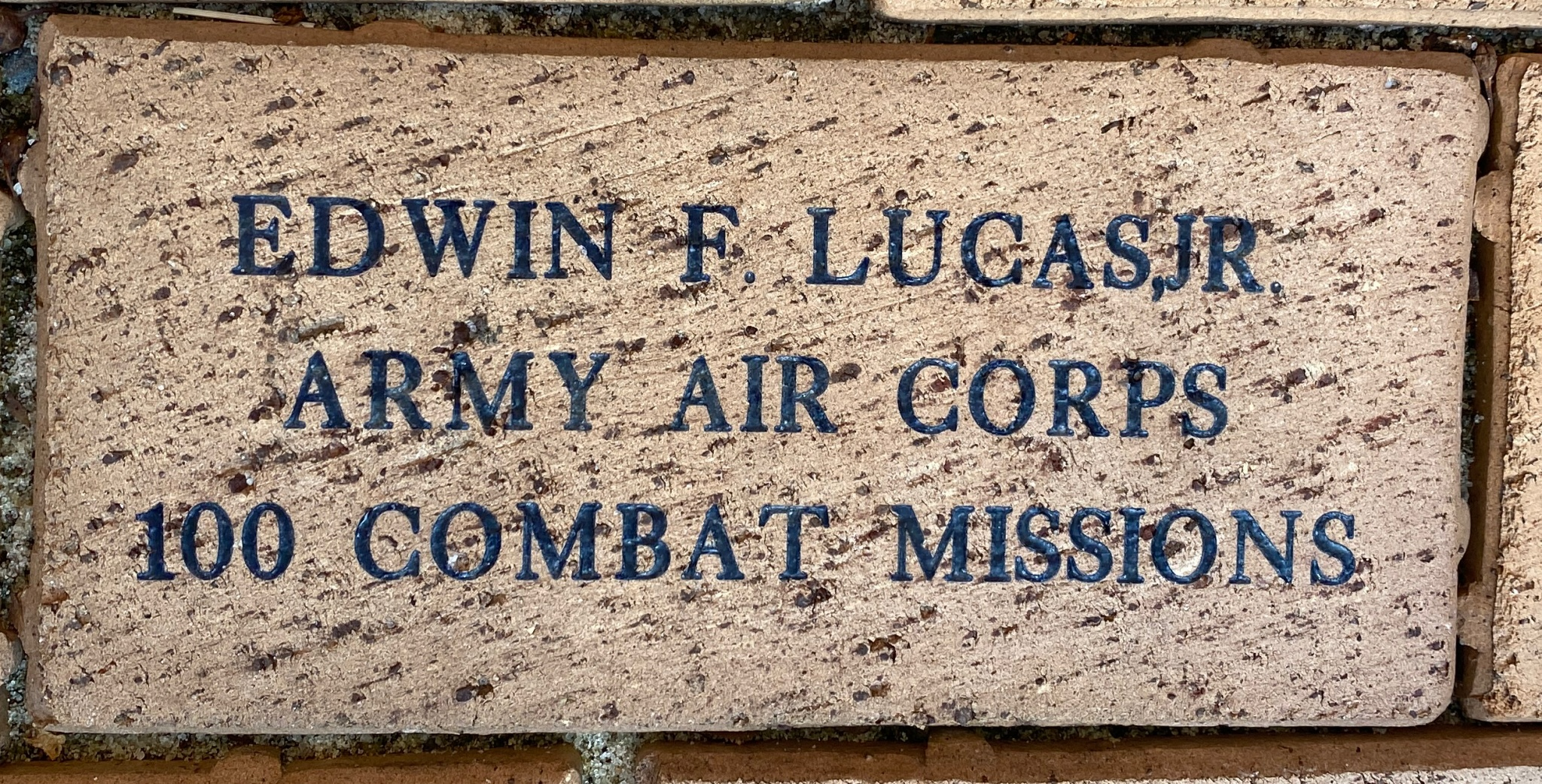 EDWIN F. LUCAS,JR. ARMY AIR CORPS 100 COMBAT MISSIONS