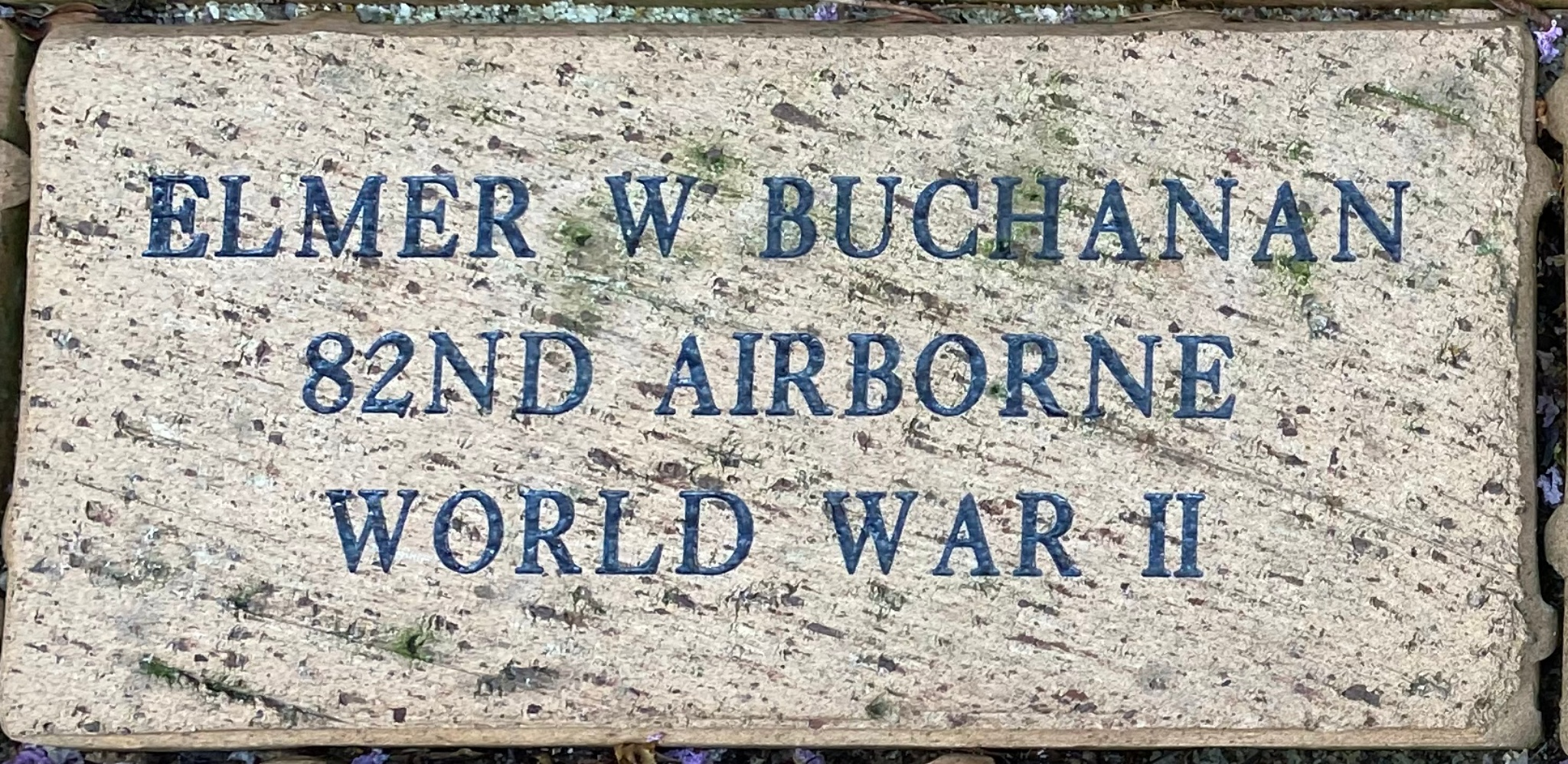 ELMER W. BUCHANAN 82ND AIRBORNE WORLD WAR II