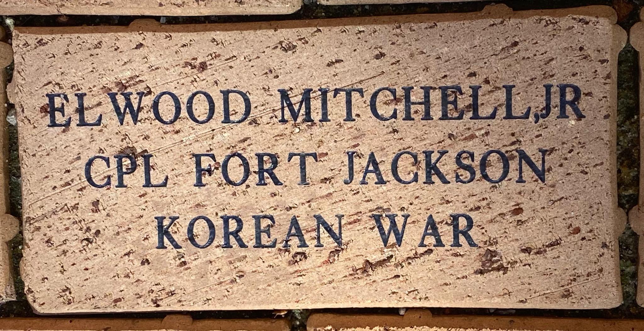 ELWOOD MITCHELL,JR CPL FORT JACKSON KOREAN WAR