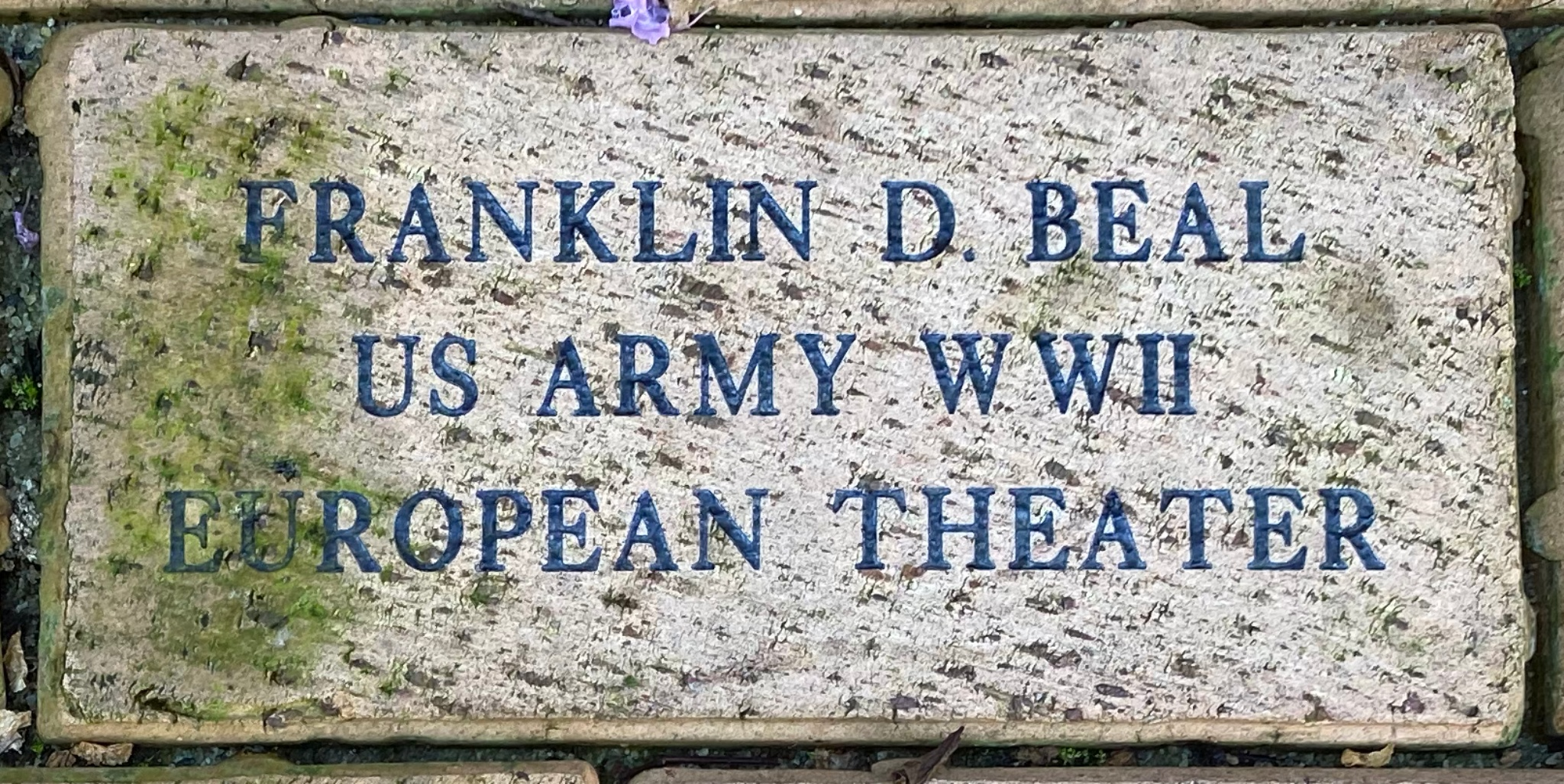 FRANKLIN D. BEAL US ARMY WWII EUROPEAN THEATER