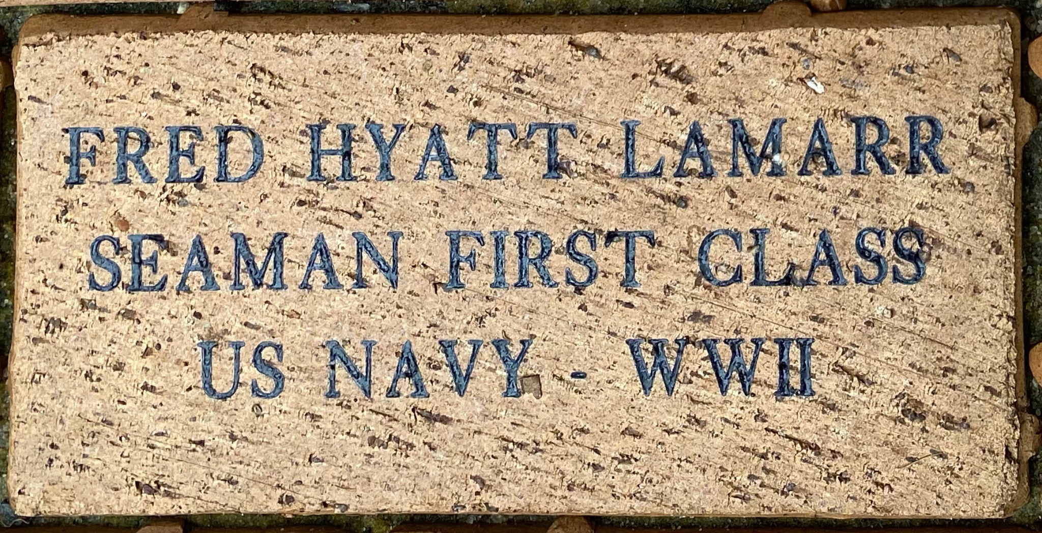 FRED HYATT LAMARR SEAMAN FIRST CLASS US NAVY – WWII