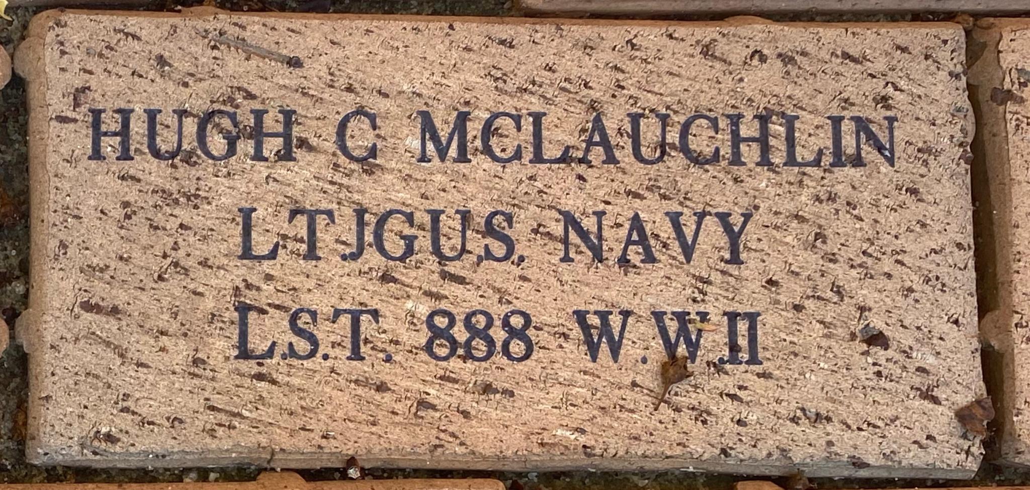 HUGH C. MCLAUGHLIN LT. JGU.S. NAVY L.S.T. 888 W.W. II