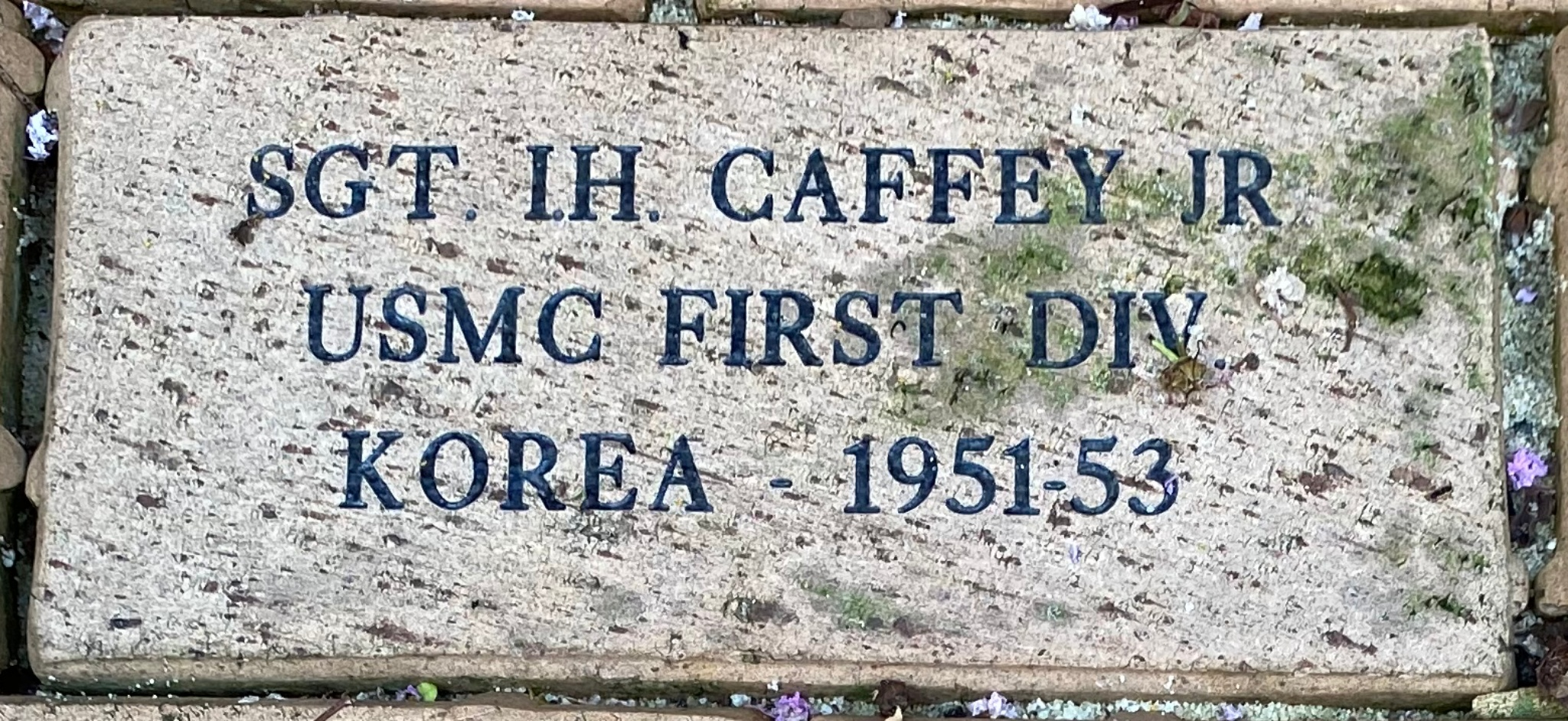 SGT. I.H. CAFFEY JR USMC FIRST DIV KOREA 1951-53