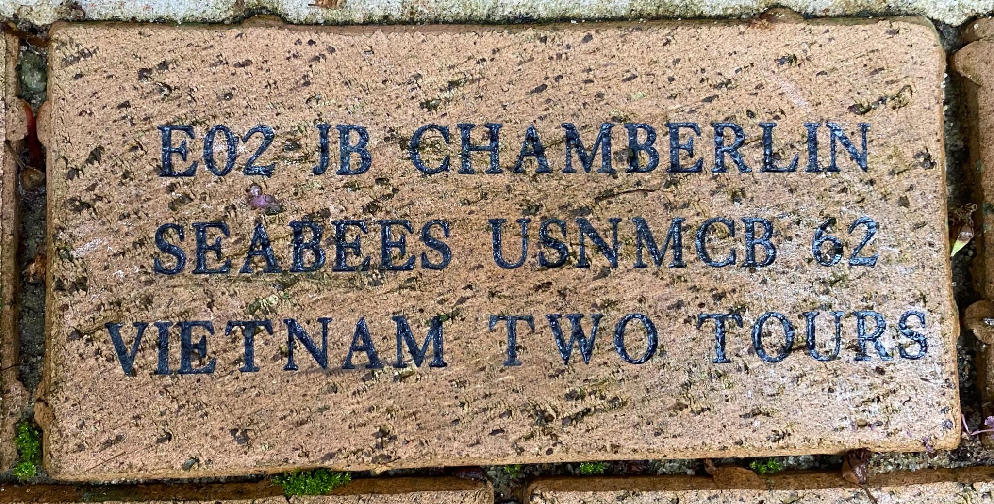 E02 JB CHAMBERLIN SEABEES USNMCB 62 VIETNAM TWO TOURS
