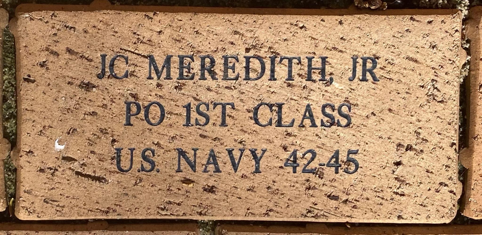 J.C. MEREDITH, JR PO 1ST CLASS U.S. NAVY 42-45