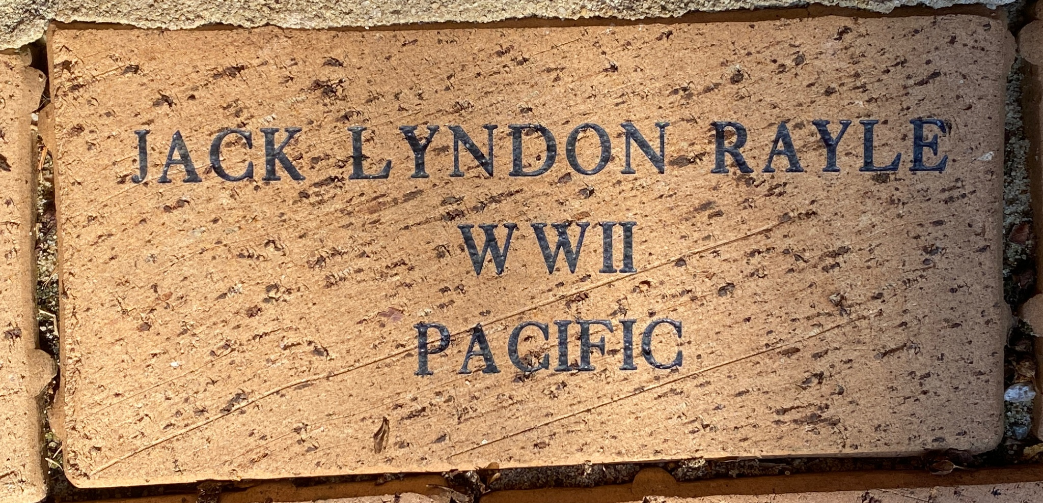 JACK LYNDON RAYLE WWII PACIFIC