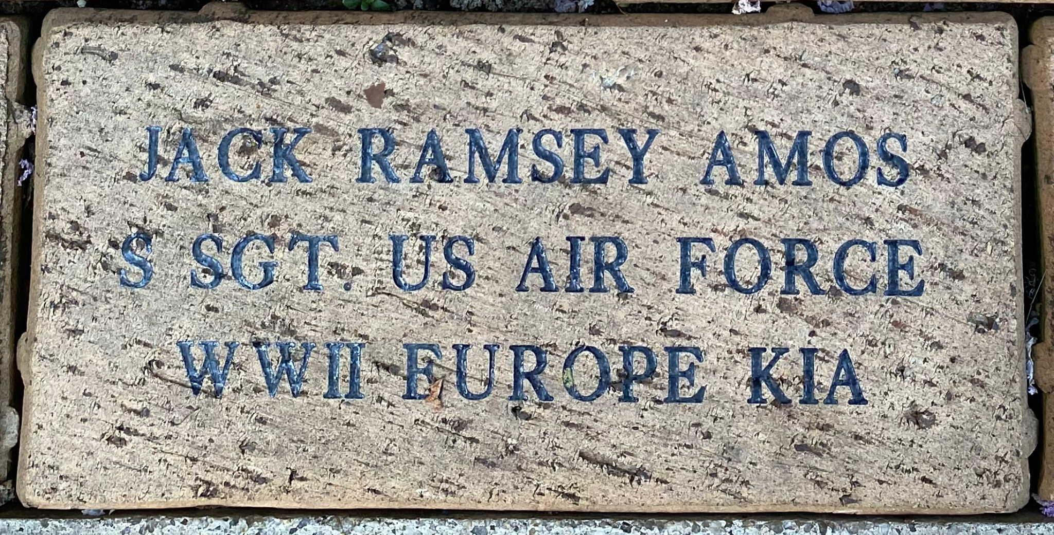 JACK RAMSEY AMOS S SGT US AIR FORCE WWII EUROPE KIA