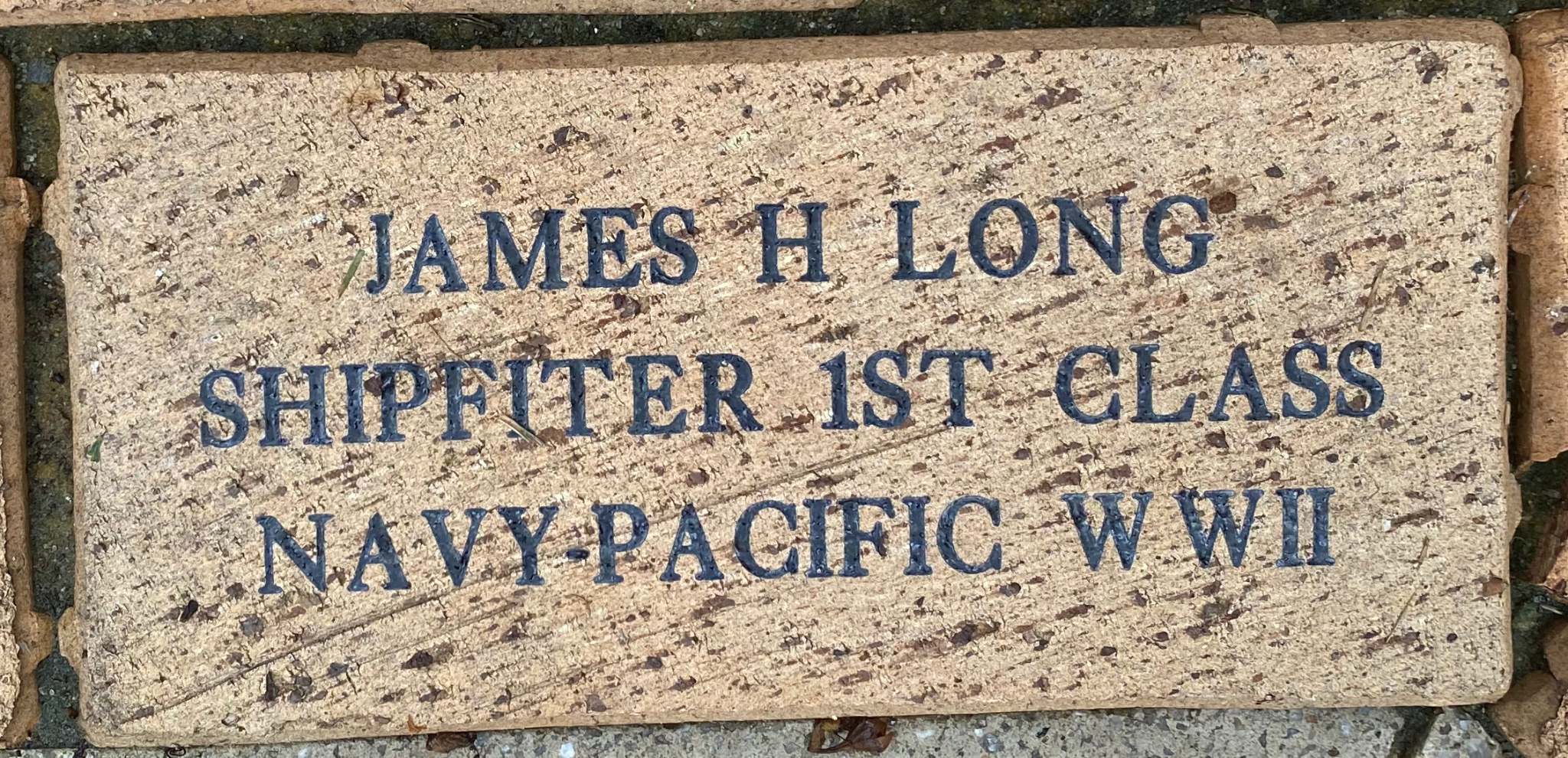 JAMES H LONG SHIPFITER 1ST CLASS NAVY PACIFIC WWII
