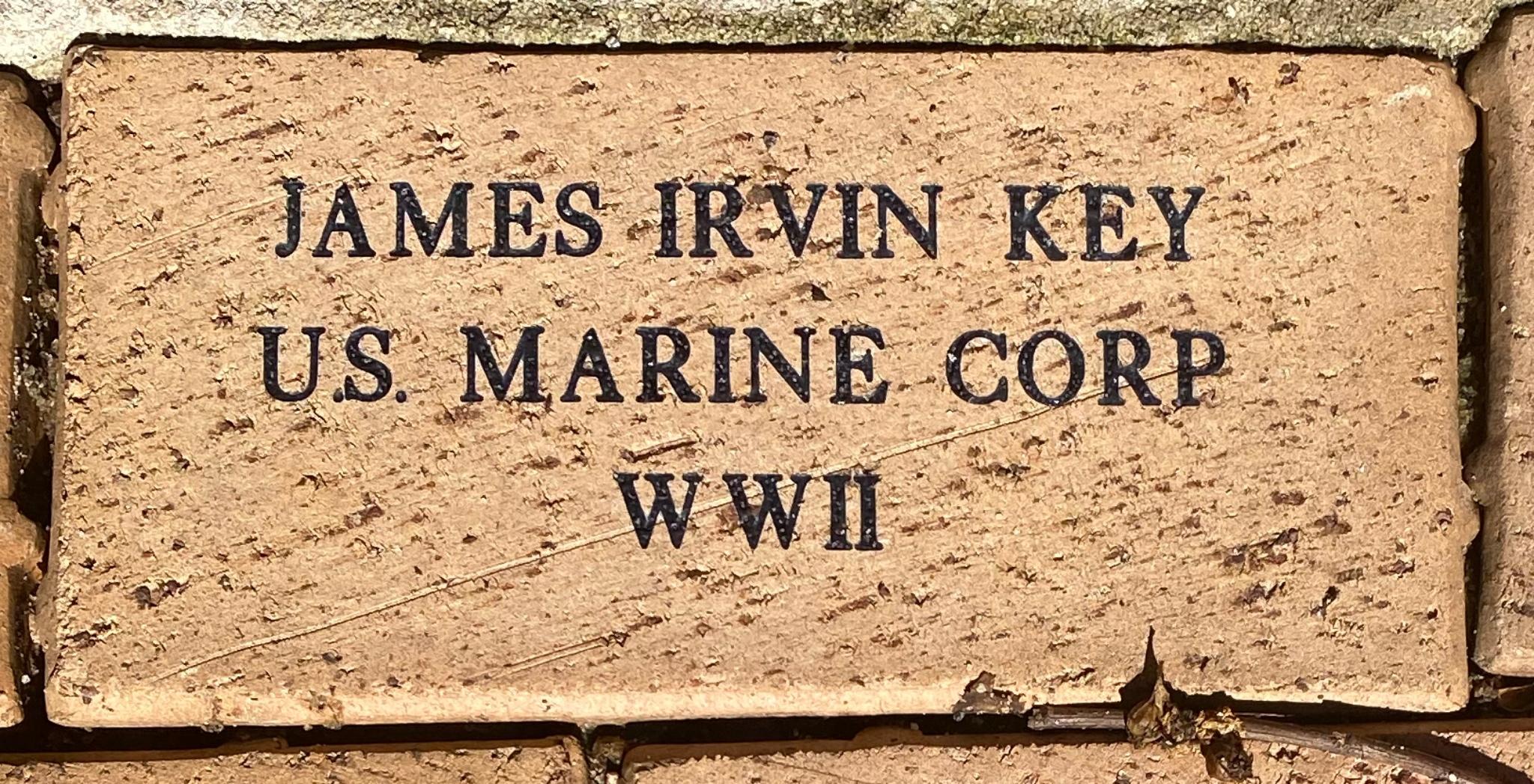 JAMES IRVIN KEY U.S. MARINE CORP WWII