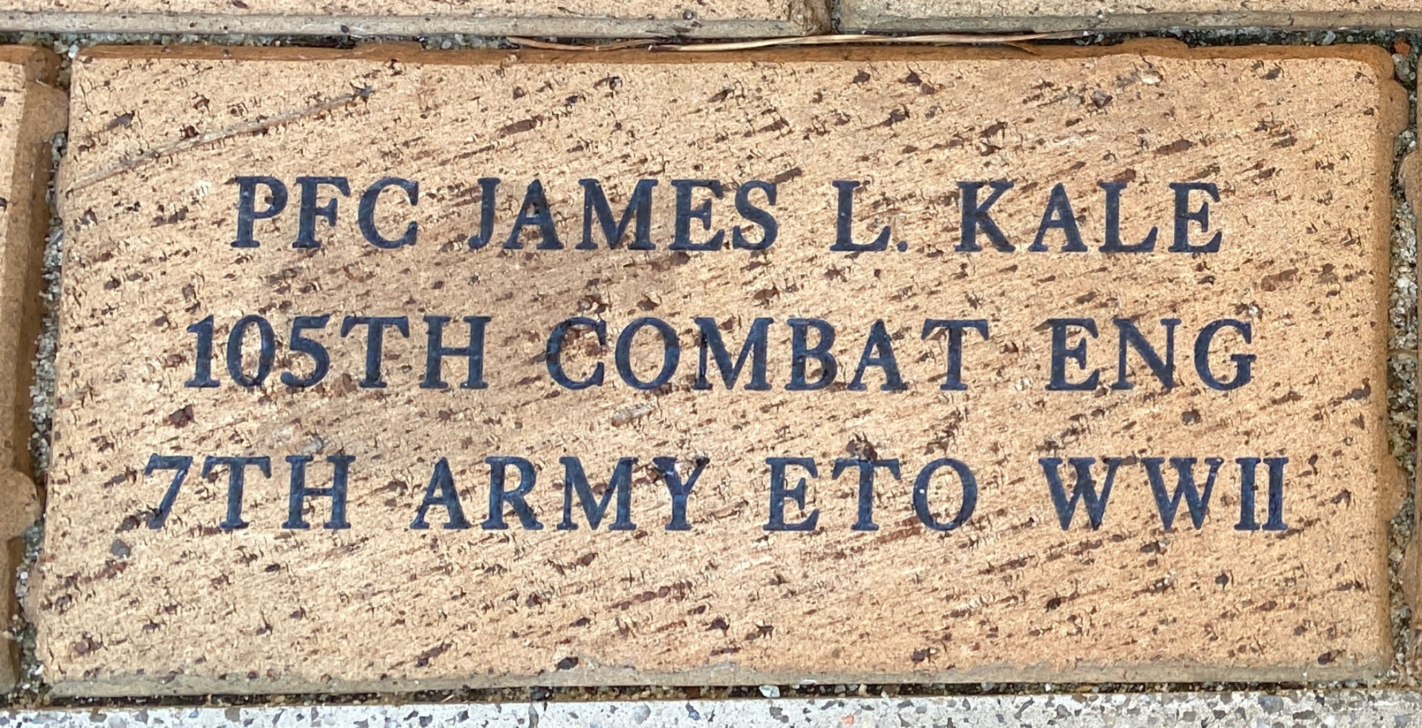 PFC JAMES L. KALE 105TH COMBAT ENG 7TH ARMY ETO WWII