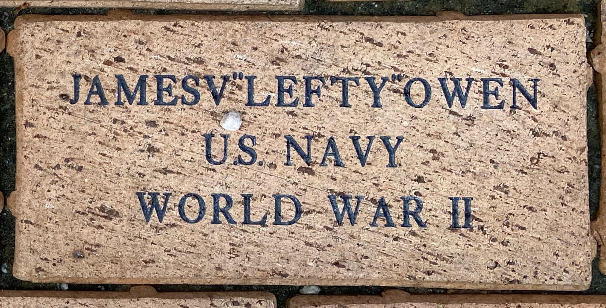 "JAMESV""LEFTY""""OWEN U.S. NAVY WORLD WAR II"