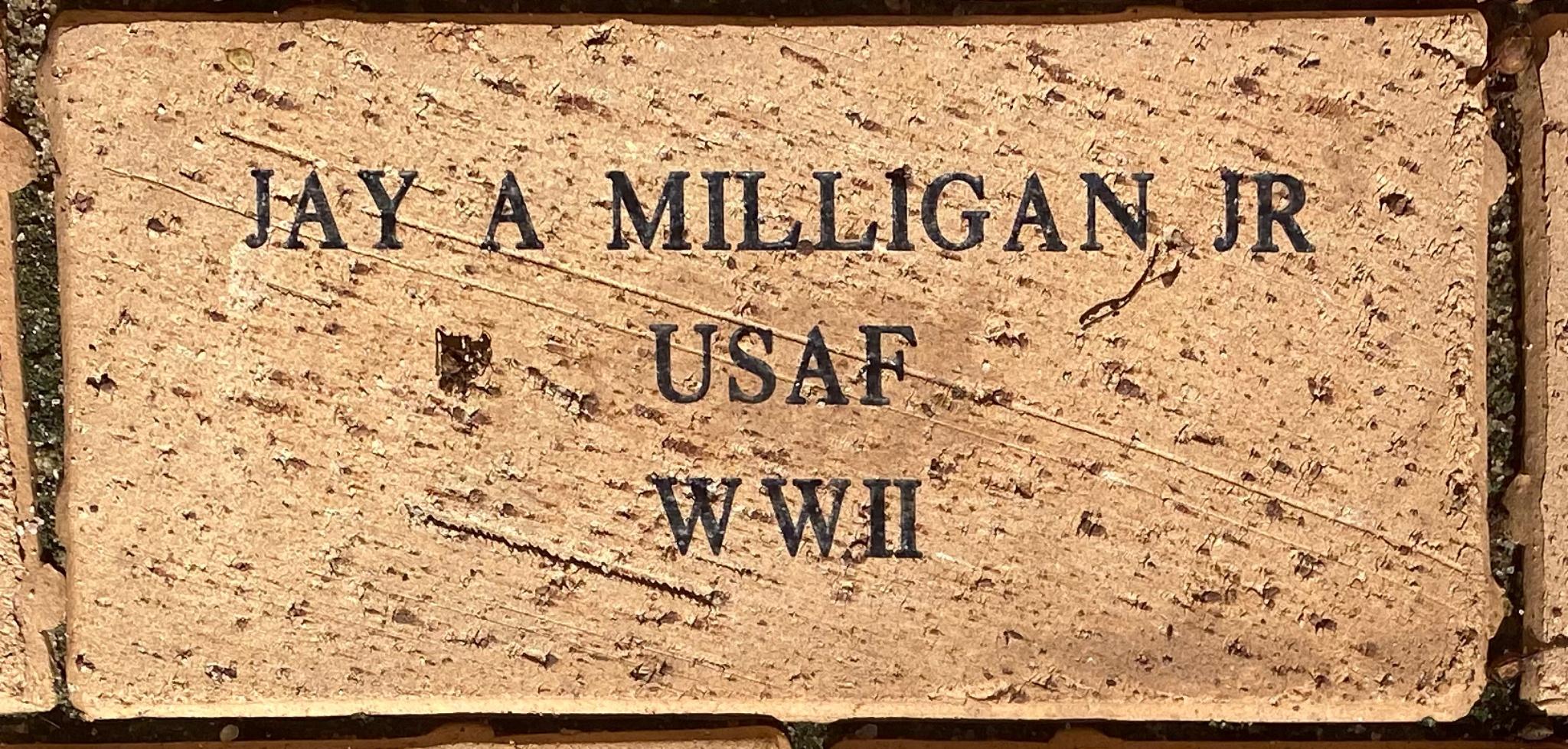 JAY A MILLIGAN JR USAF WWII