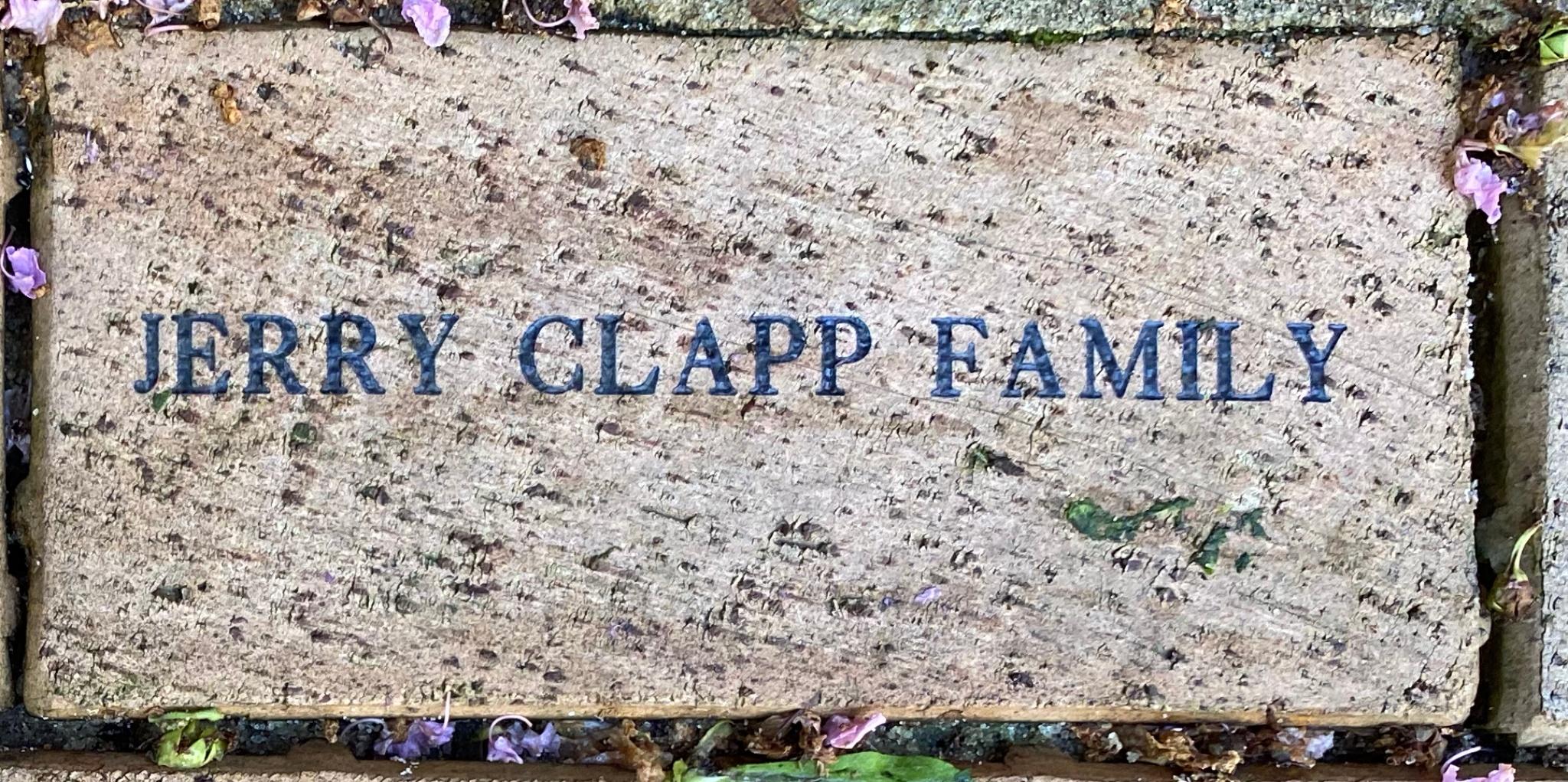 JERRY CLAPP FAMILY