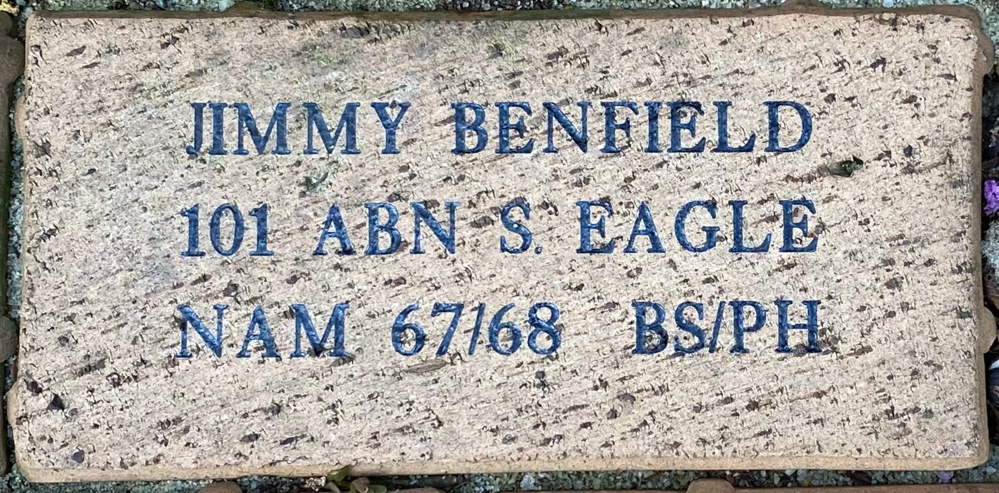 JIMMY BENFIELD 101 ABN S. EAGLE NAM 67/68 BS/PH