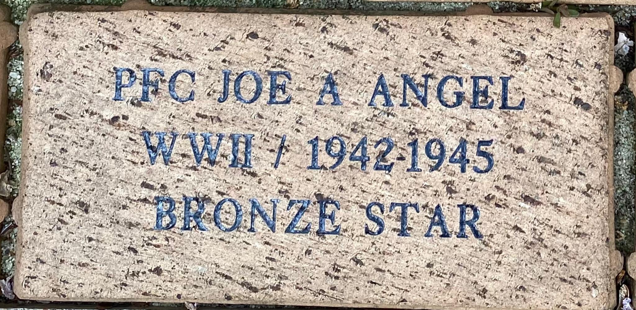 PFC JOE A ANGEL WWII / 1942-1945 BRONZE STAR