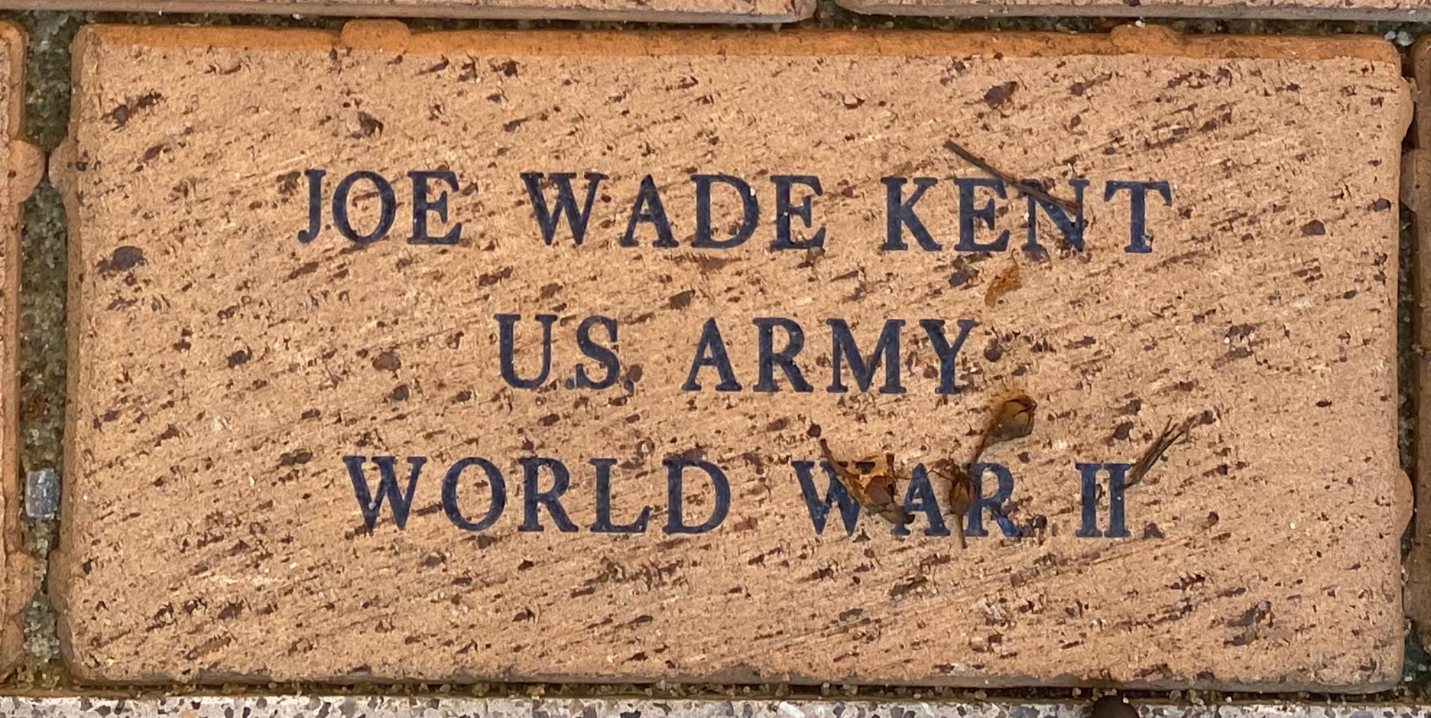 JOE WADE KENT U.S. ARMY WORLD WAR II