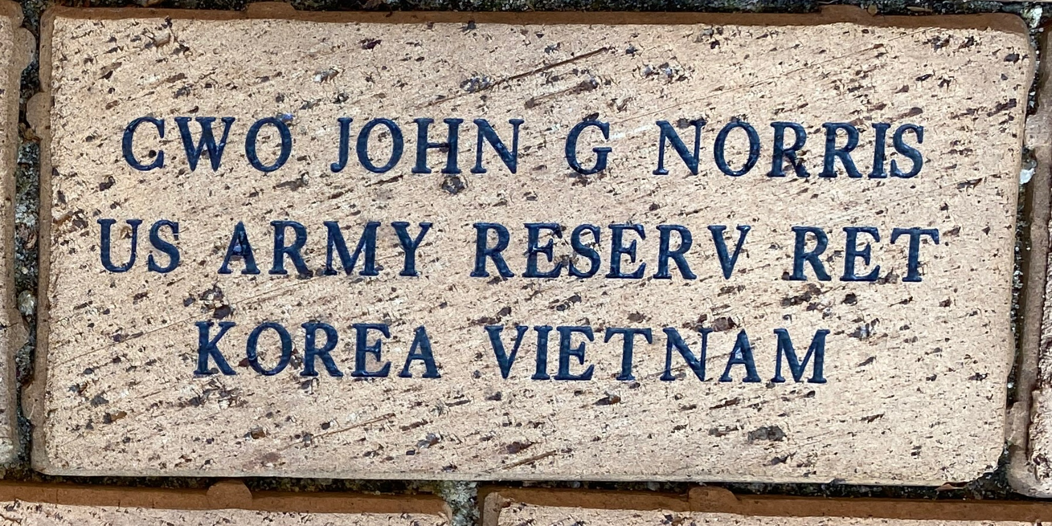 CWO JOHN G NORRIS U S ARMY RESERV RET KOREA VIETNAM