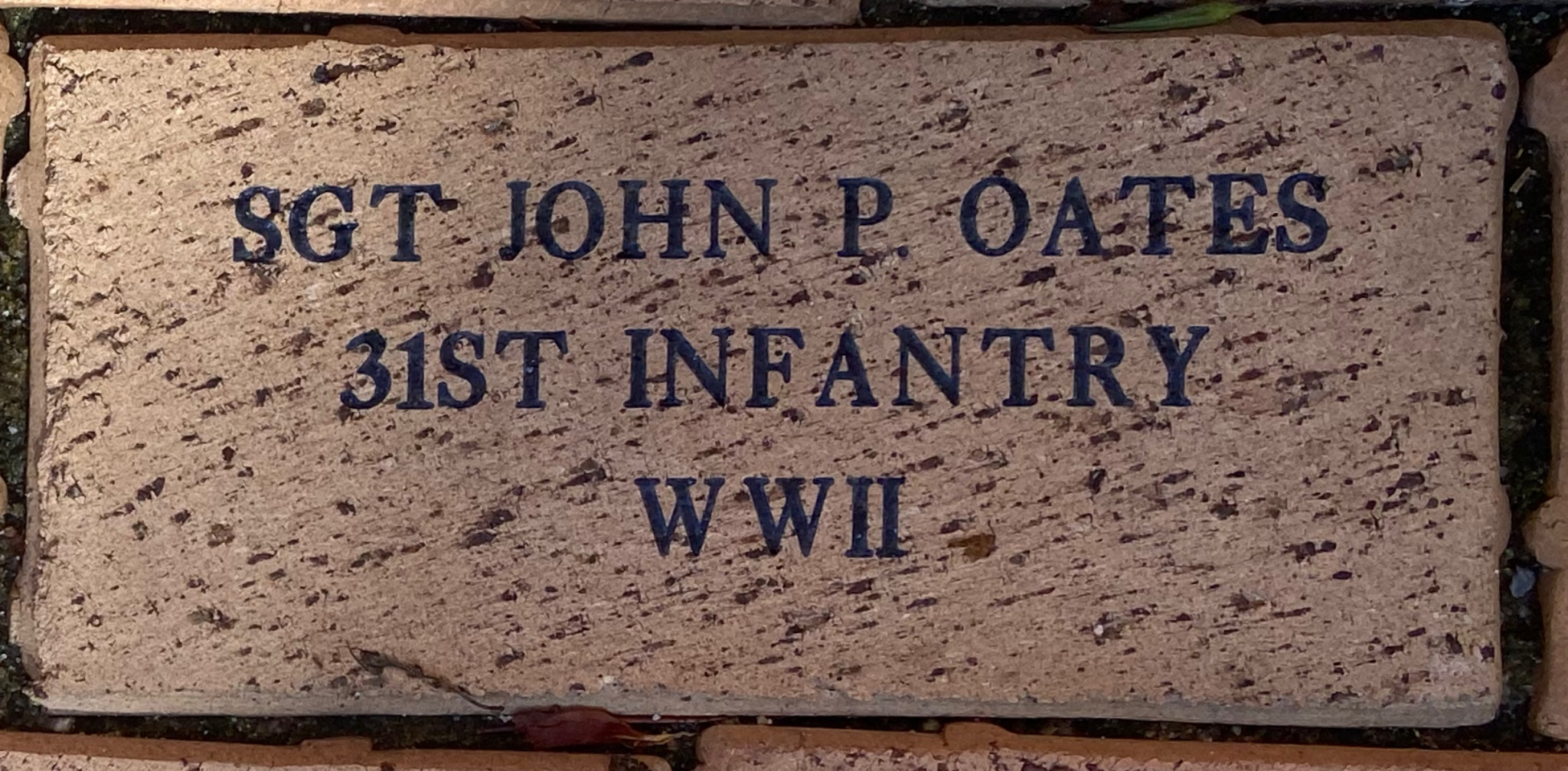 SGT JOHN P. OATES 31ST INFANTRY WWII