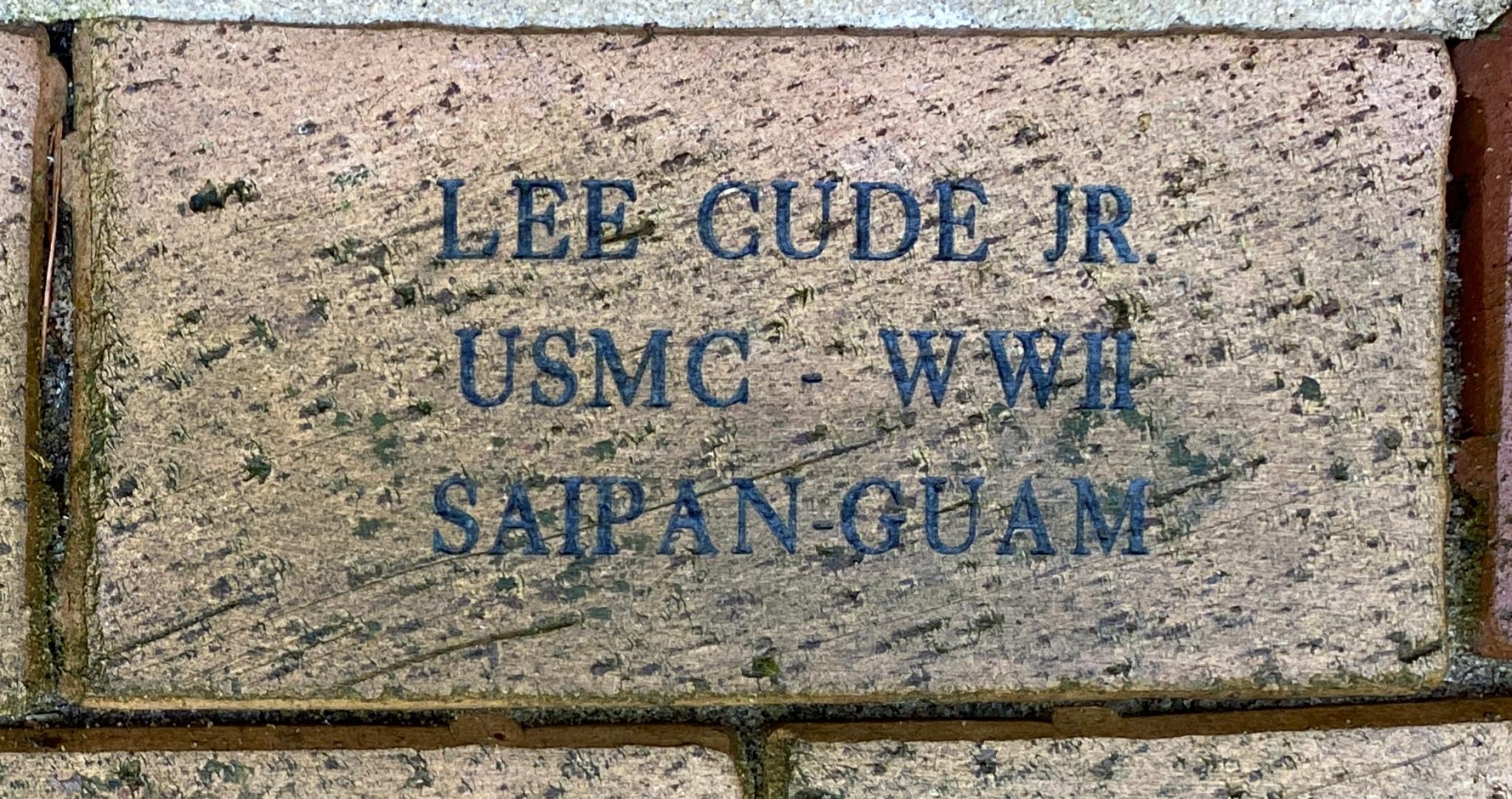 LEE CUDE JR USMC –- WWII SAIPAN-GUAM