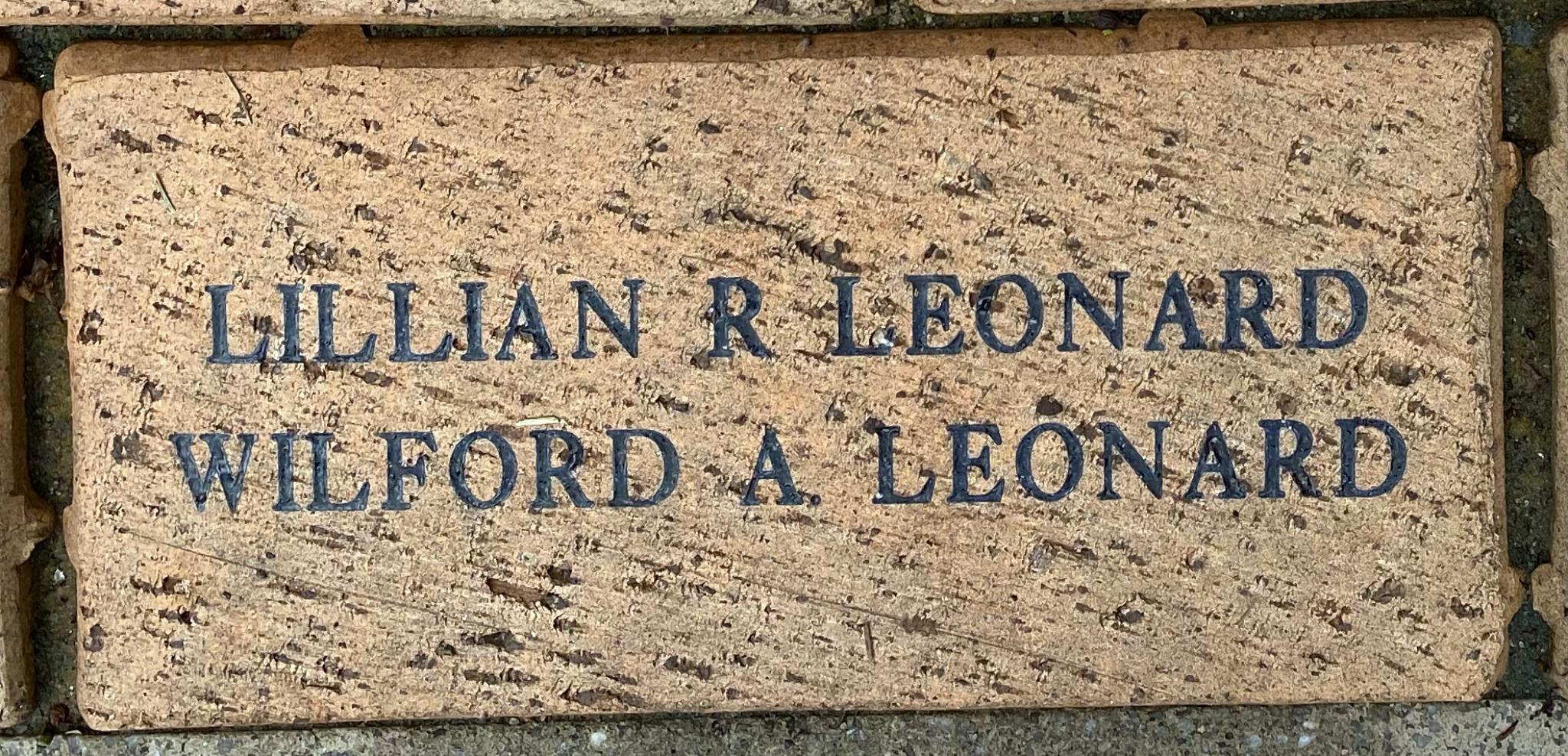LILLIAN R LEONARD WILFORD A LEONARD