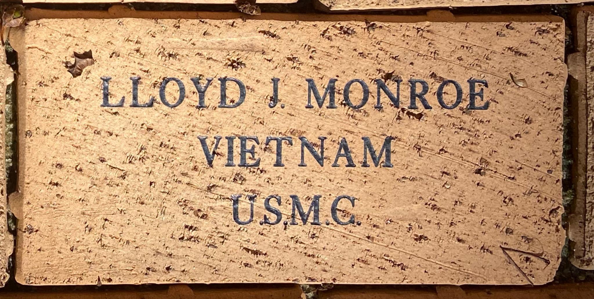 LLOYD J. MONROE VIETNAM U.S.M.C.