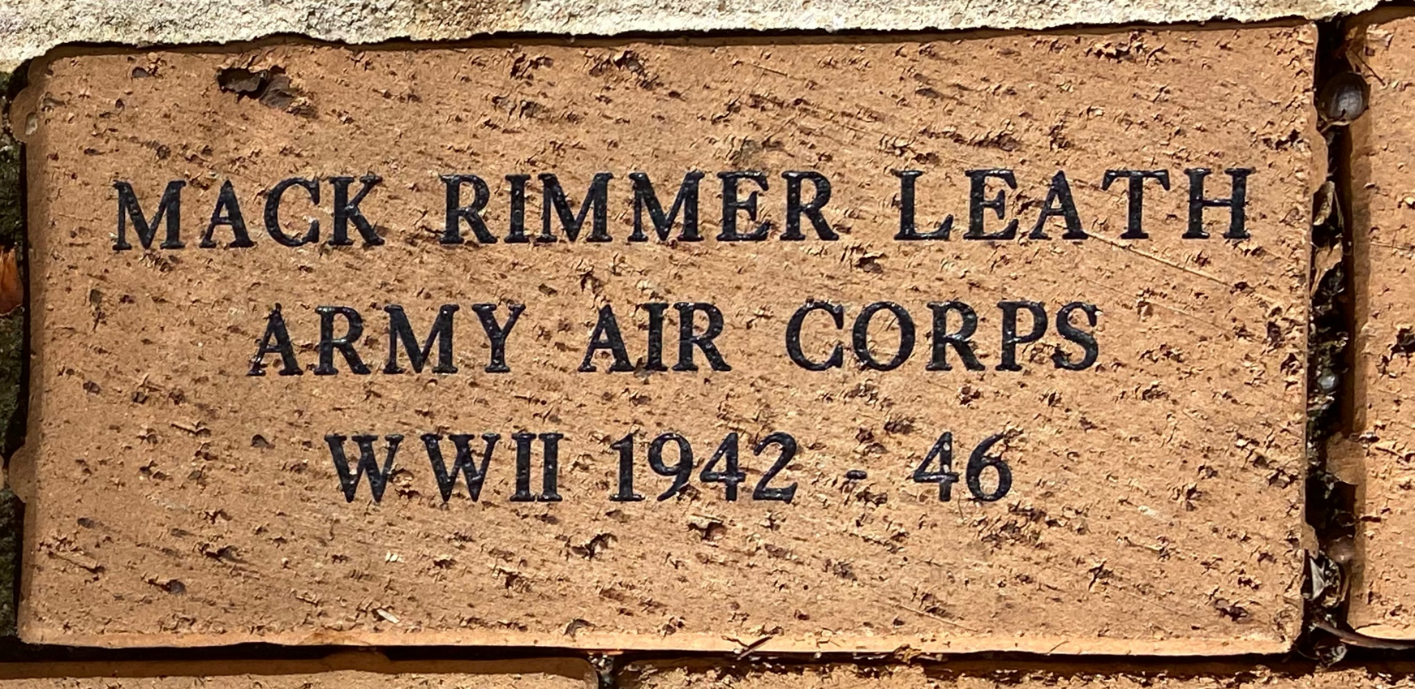 MACK RIMMER LEATH ARMY AIR CORPS WWII 1942 – 46