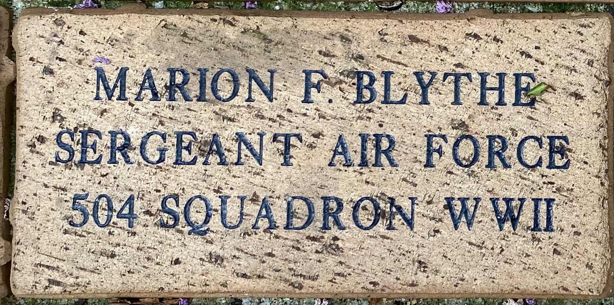 MARION F. BLYTHE SERGEANT AIR FORCE 504-SQUADRON WWII