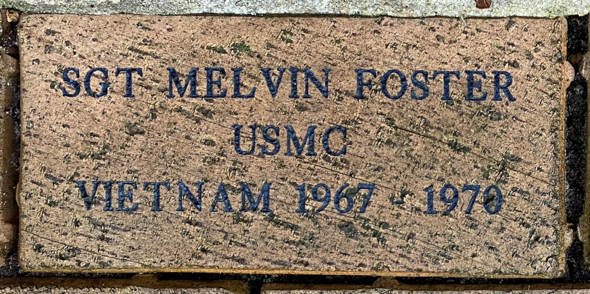SGT MELVIN FOSTER USMC VIETNAM 1967 – 1970