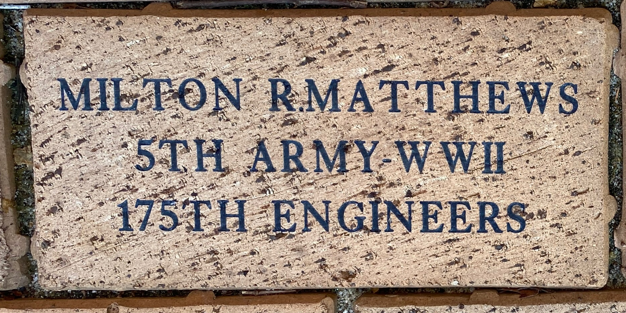 MILTON R.MATTHEWS 5TH ARMY-WWII 175TH ENGINEERS