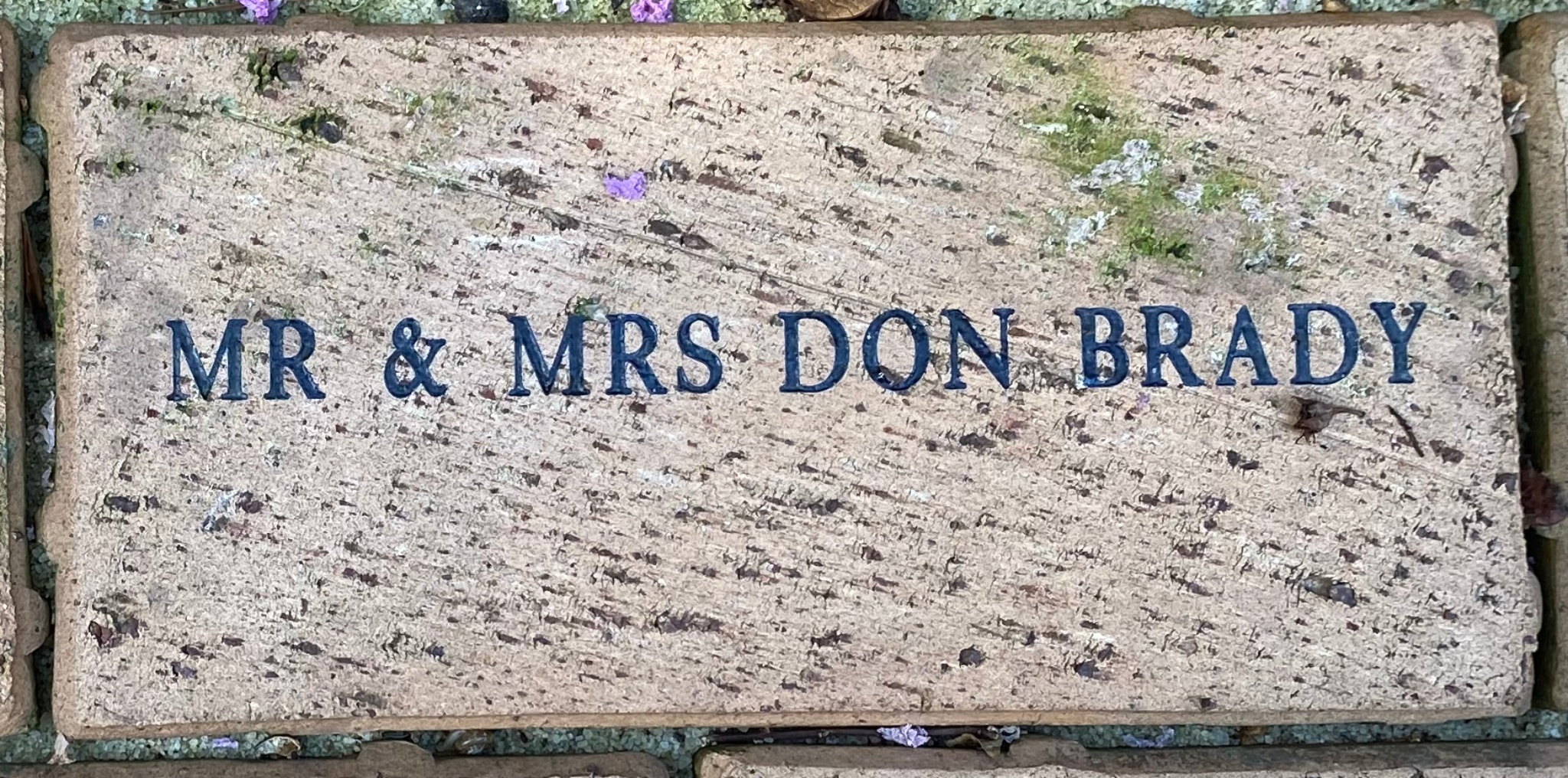 MR & MRS DON BRADY