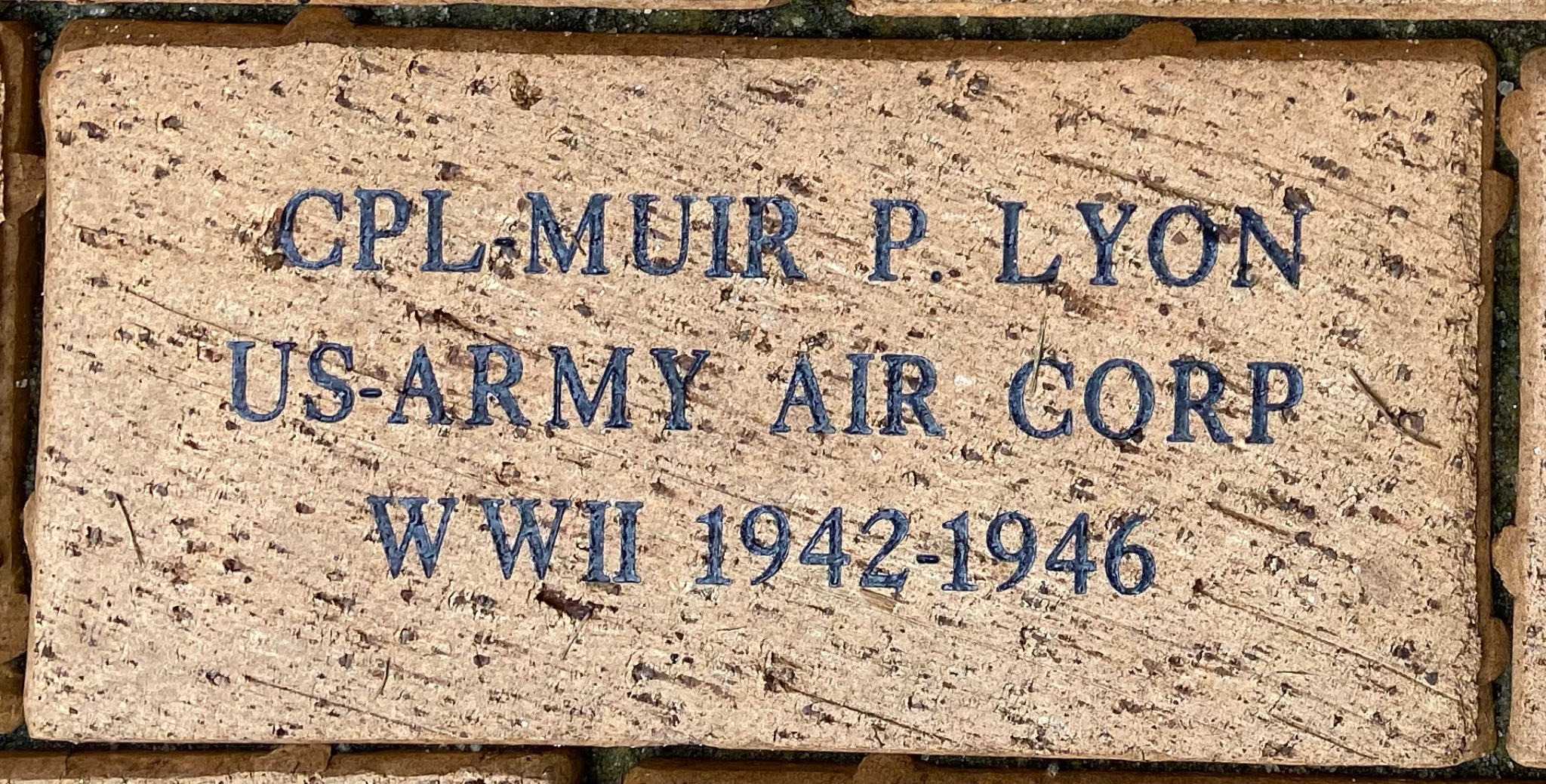 CPL MUIR P. LYON US-ARMY AIR CORP WWII 1942-1946