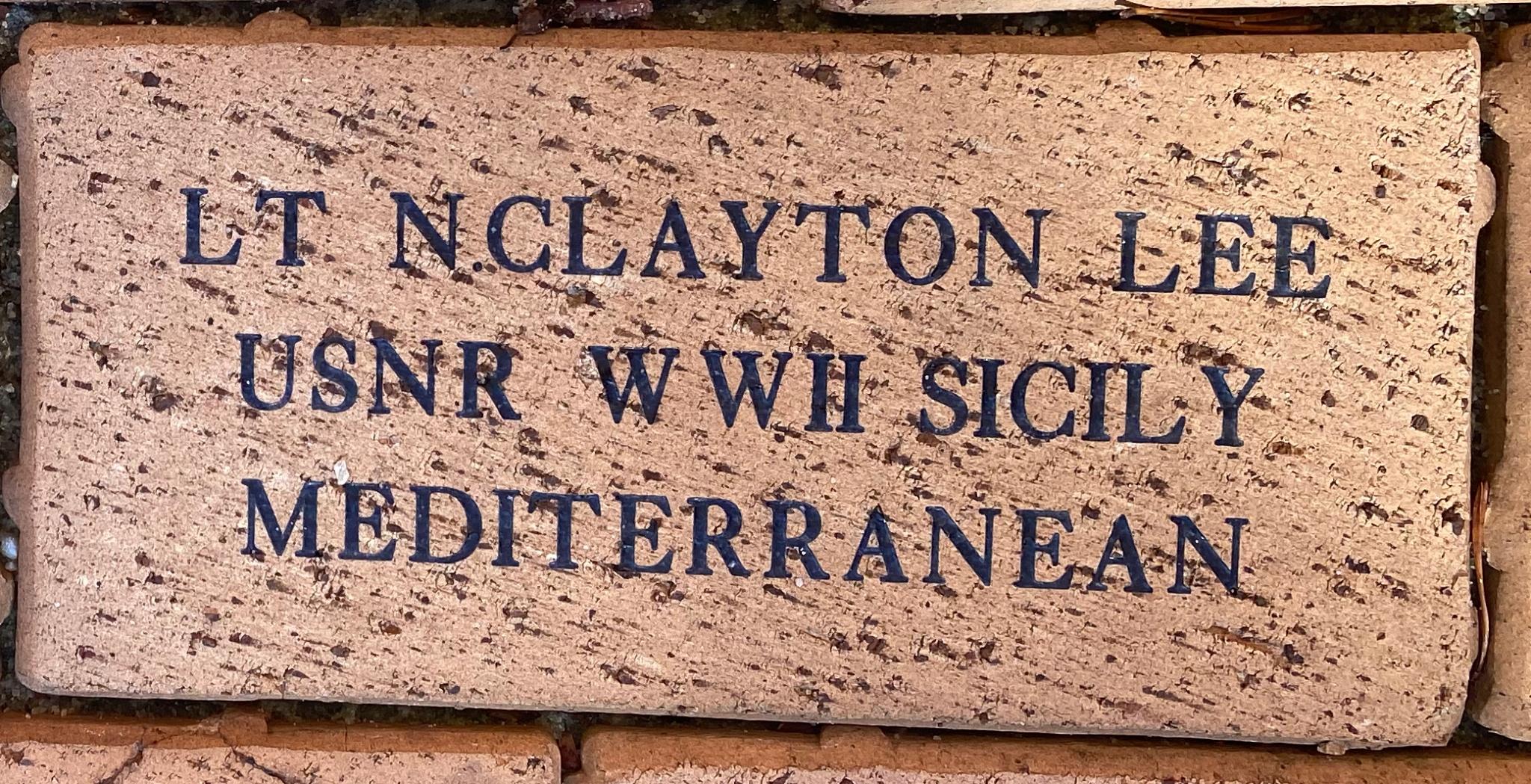 LT N.CLAYTON LEE USNR WWII SICILY MEDITERRANEAN