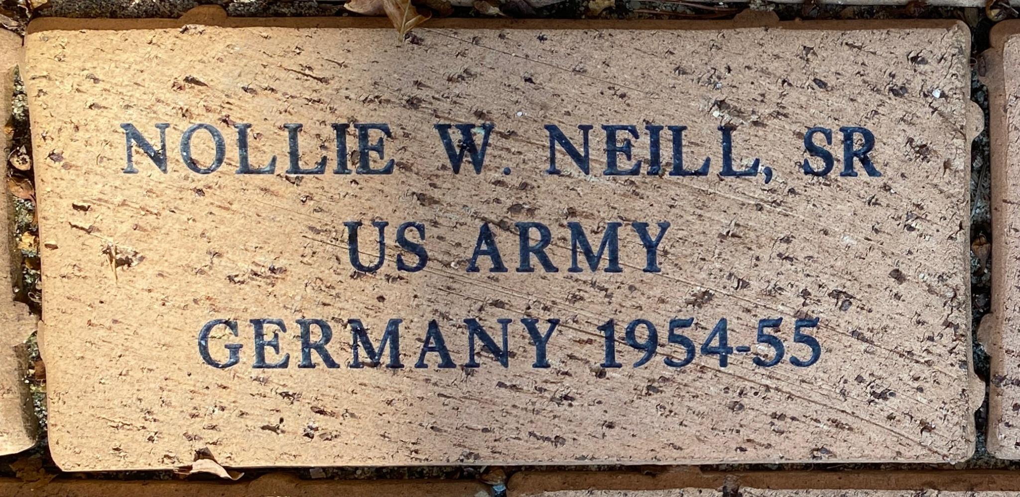 NOLLIE W. NEILL, SR US ARMY GERMANY 1954-55
