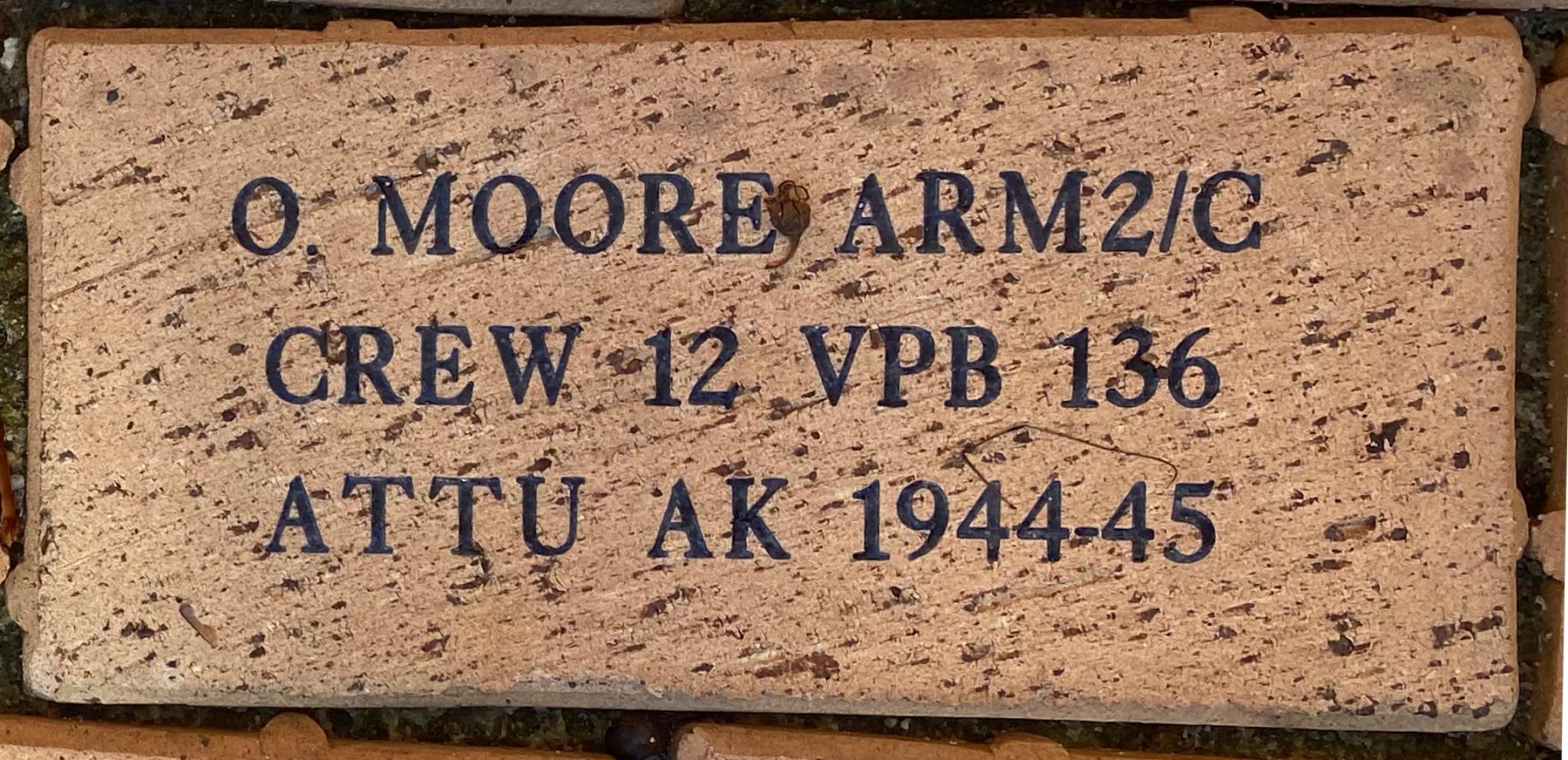 O. MOORE ARM2/C CREW 12 VPB 136 ATTU AK 1944-45