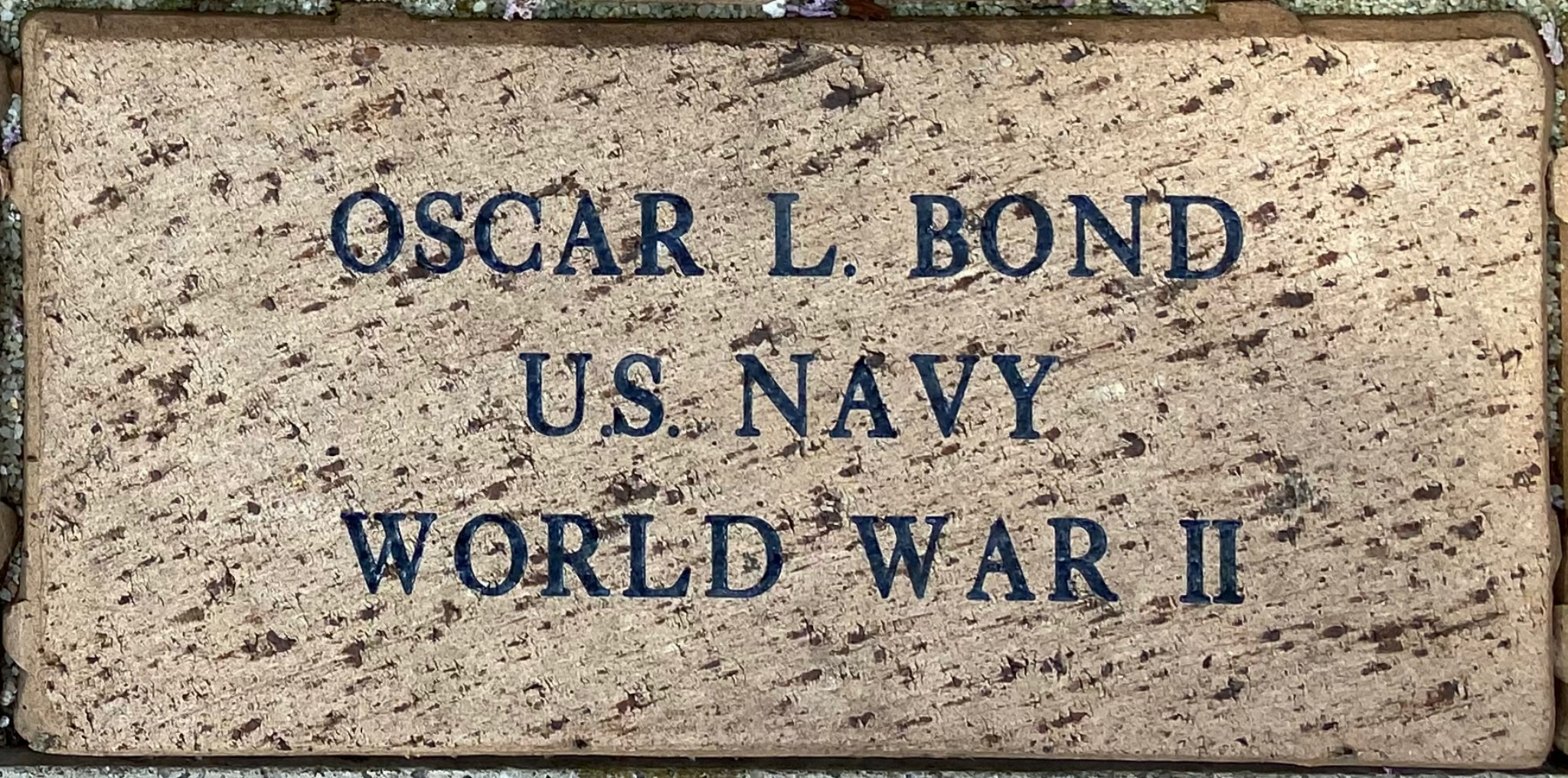 OSCAR L. BOND U.S. NAVY WORLD WAR II