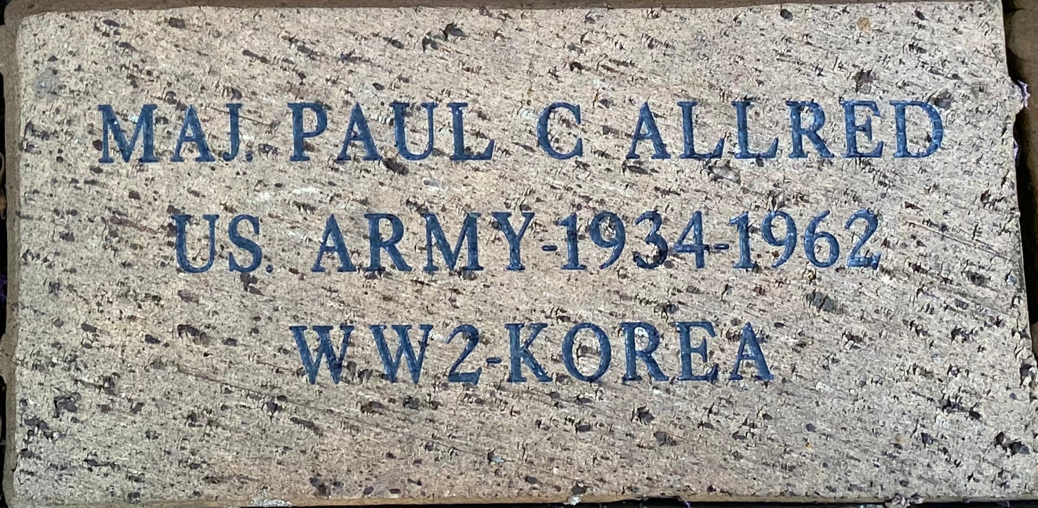 MAJ PAUL C ALLRED U S ARMY 1934-1962 WW2 KOREA