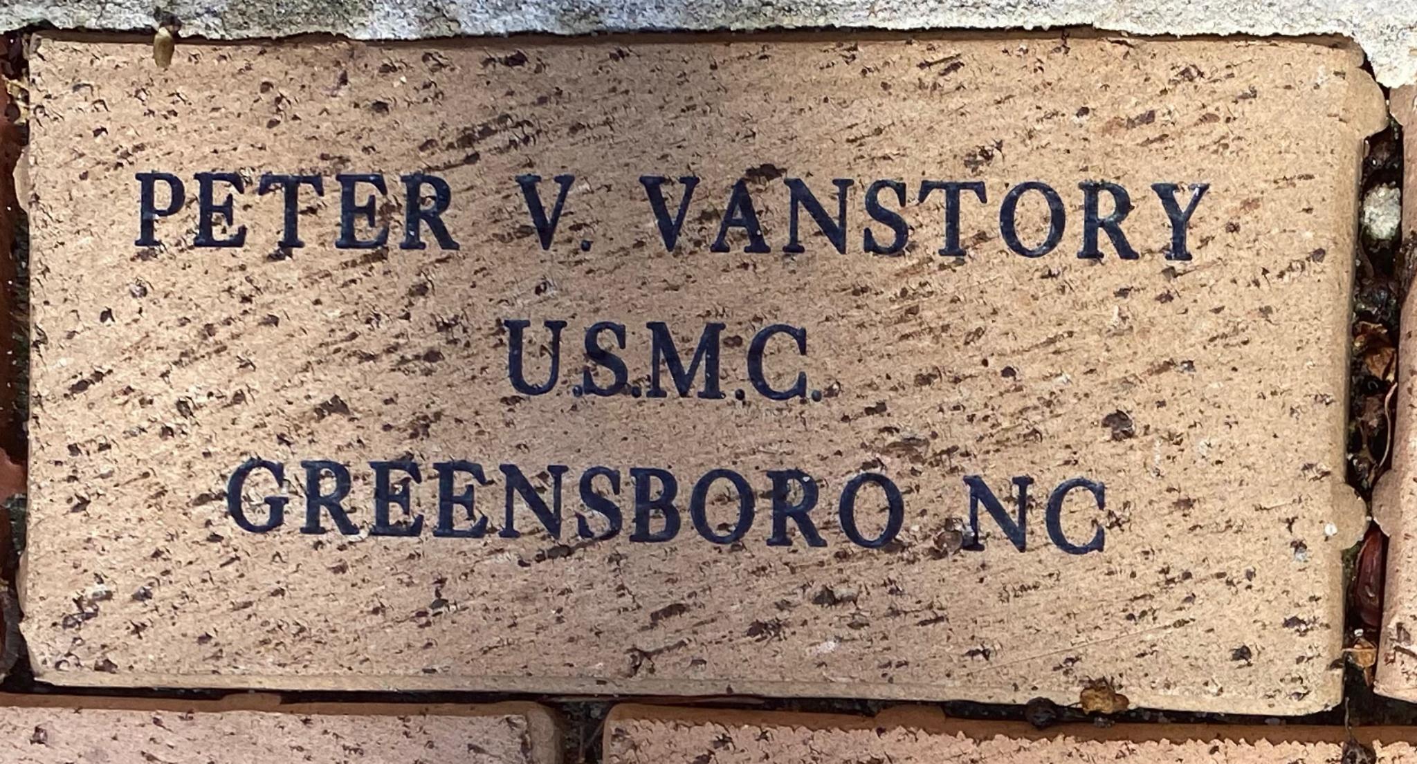 PETER V. VANSTORY U.S.M.C. GREENSBORO NC