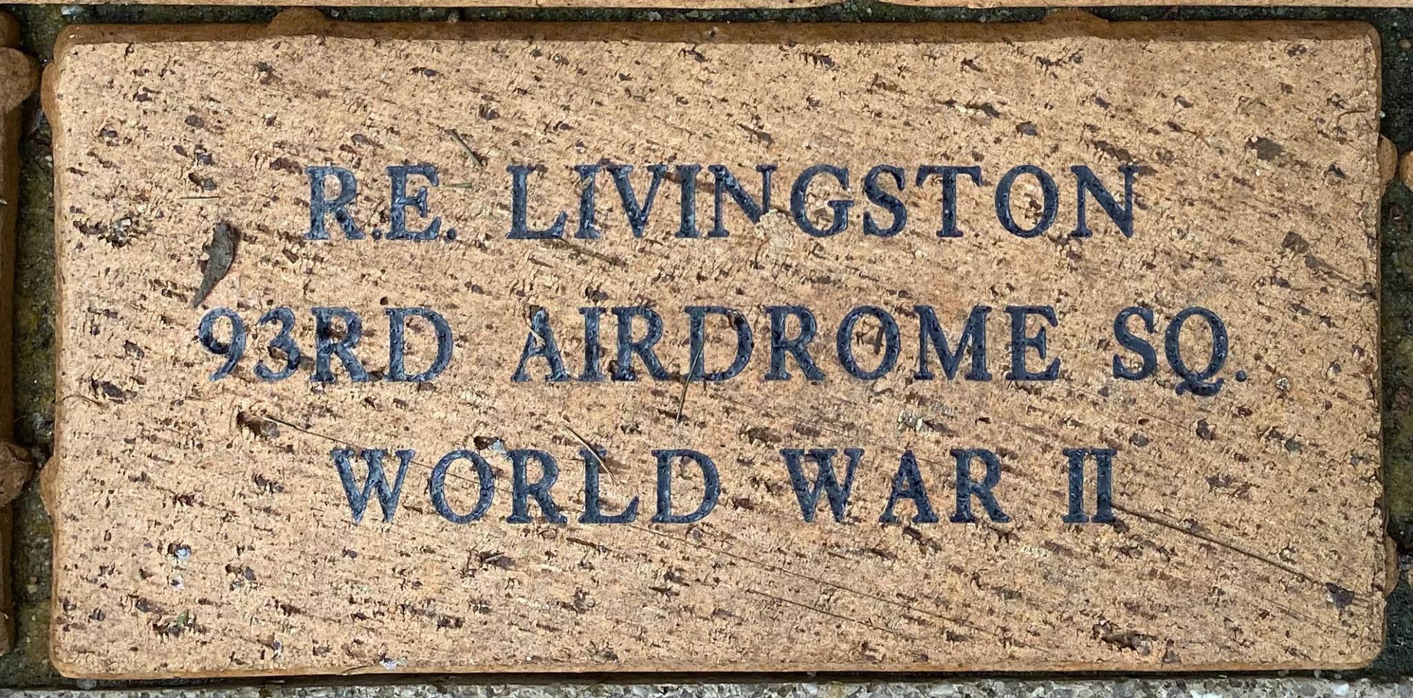 R.E. LIVINGSTON 93RD AIRDROME SQ WORLD WAR II
