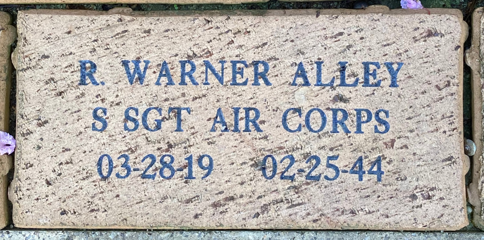 R. WARNER ALLEY S SGT AIR CORPS 03-28-19 02-25-44