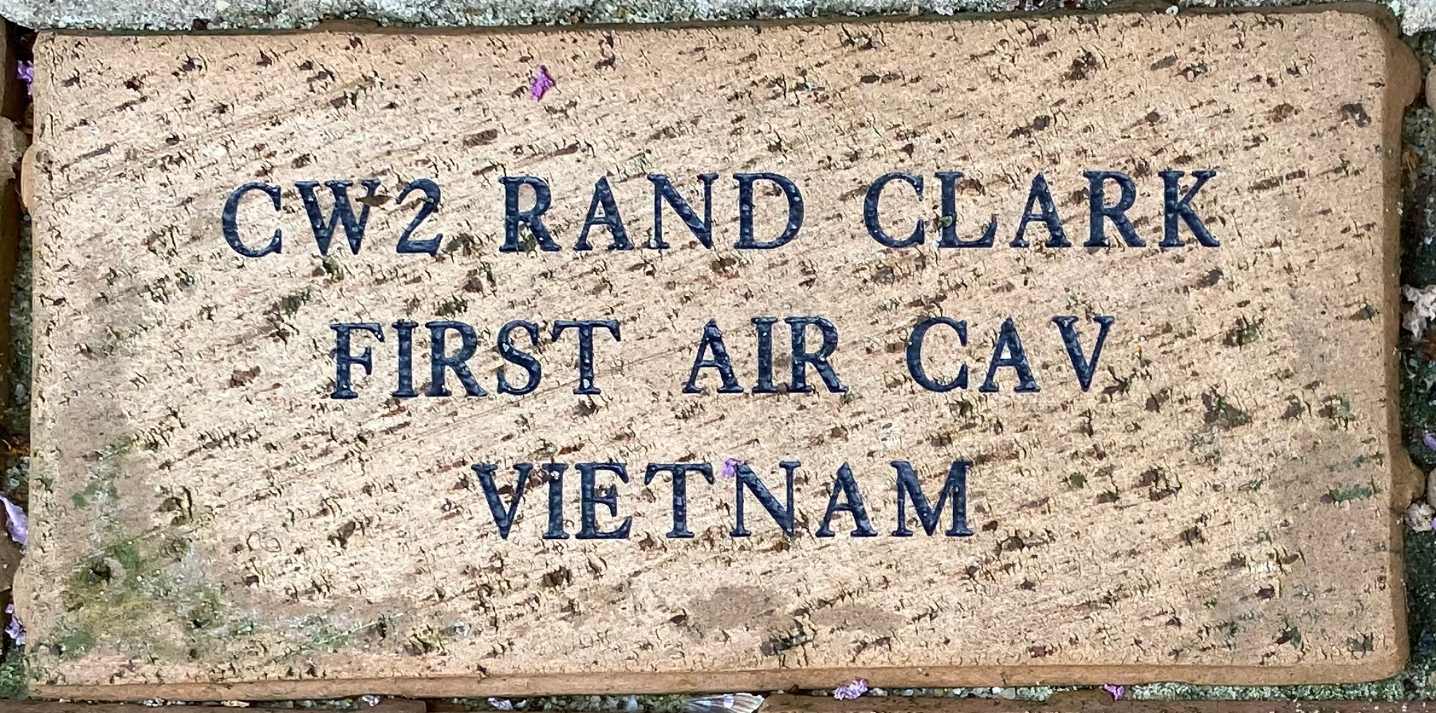 CW2 RAND CLARK FIRST AIR CAV VIETNAM