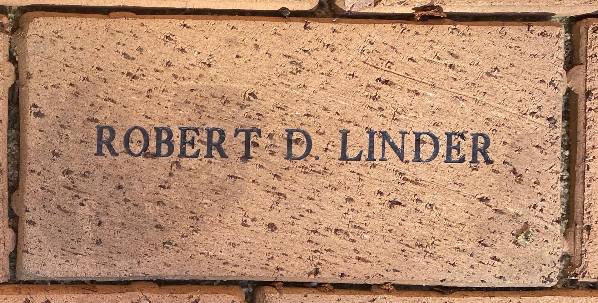 ROBERT D. LINDER