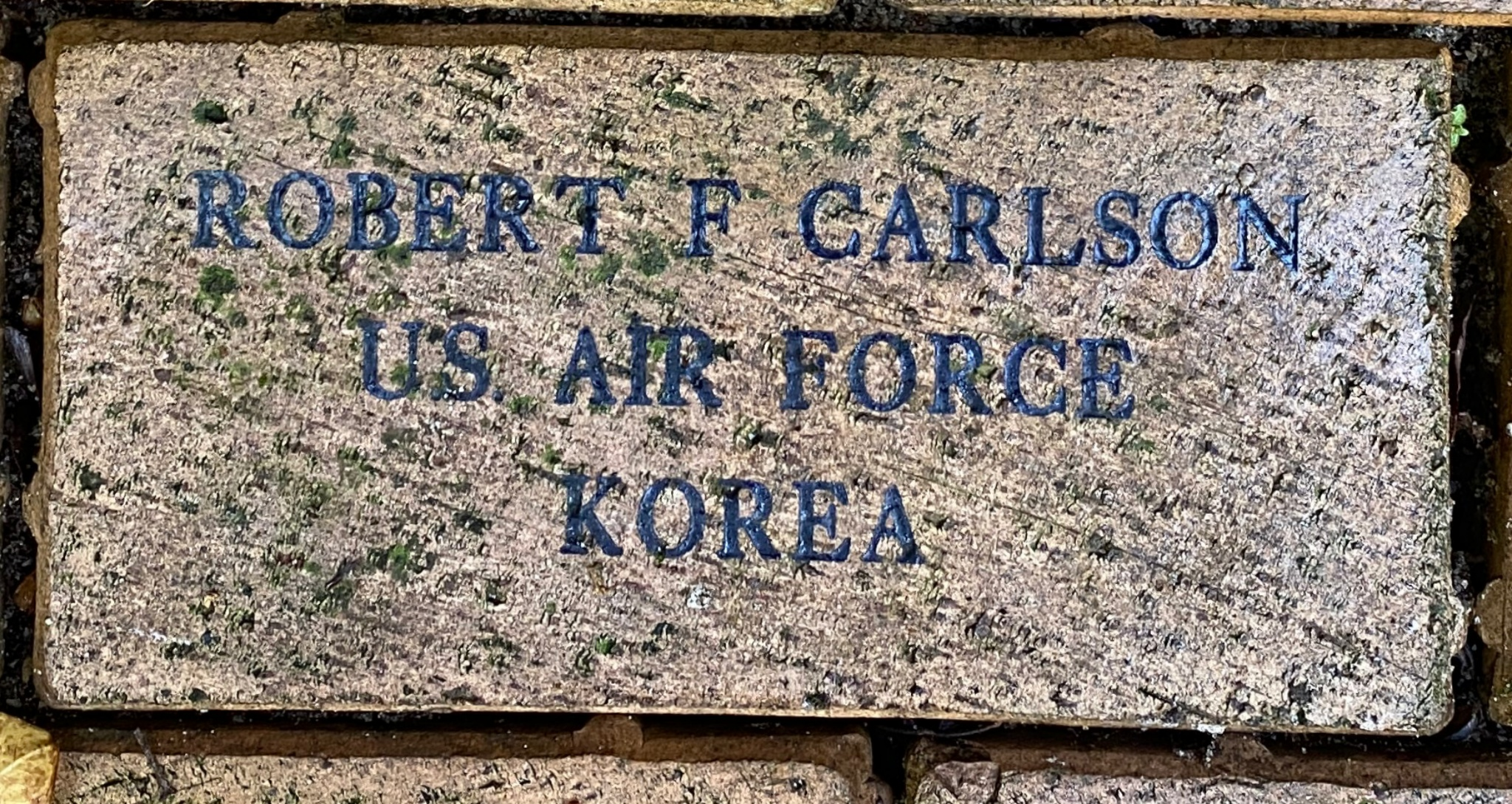 ROBERT F. CARLSON U.S. AIRFORCE KOREA