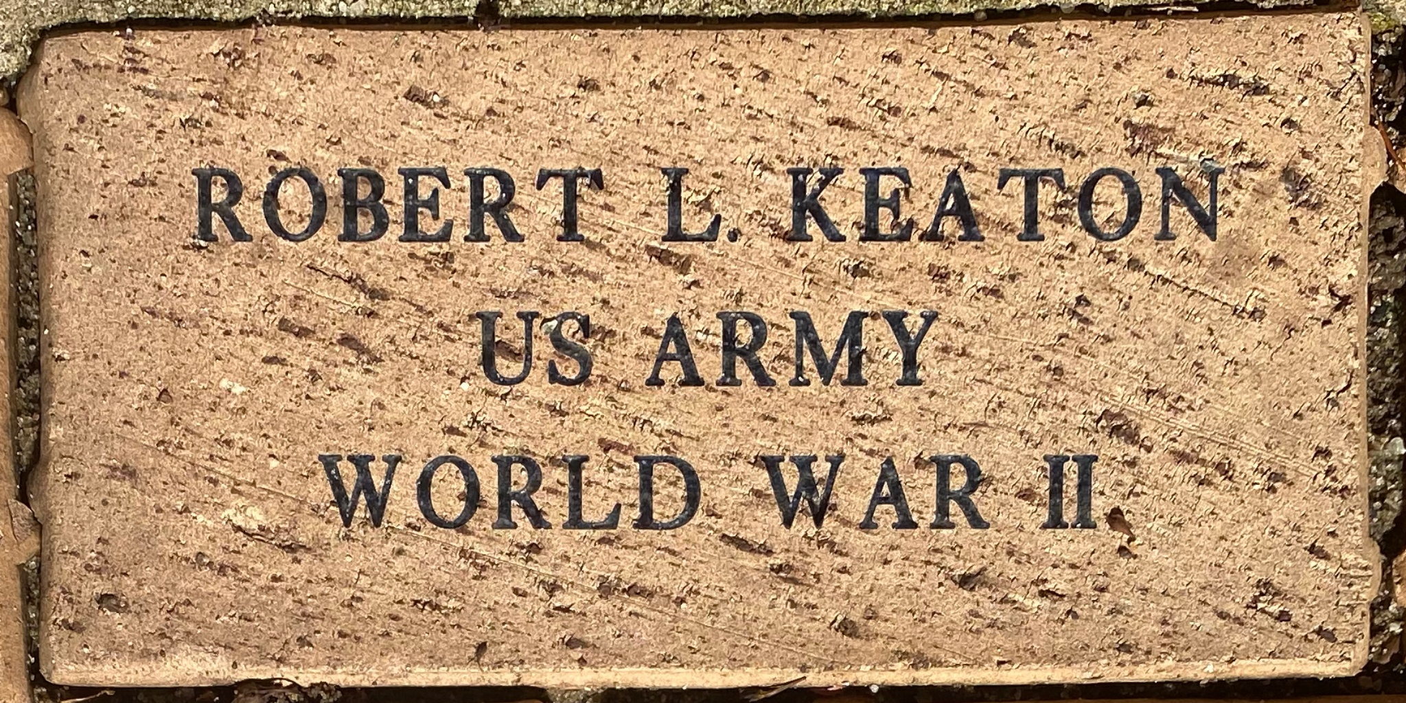 ROBERT L. KEATON U S ARMY WORLD WAR II