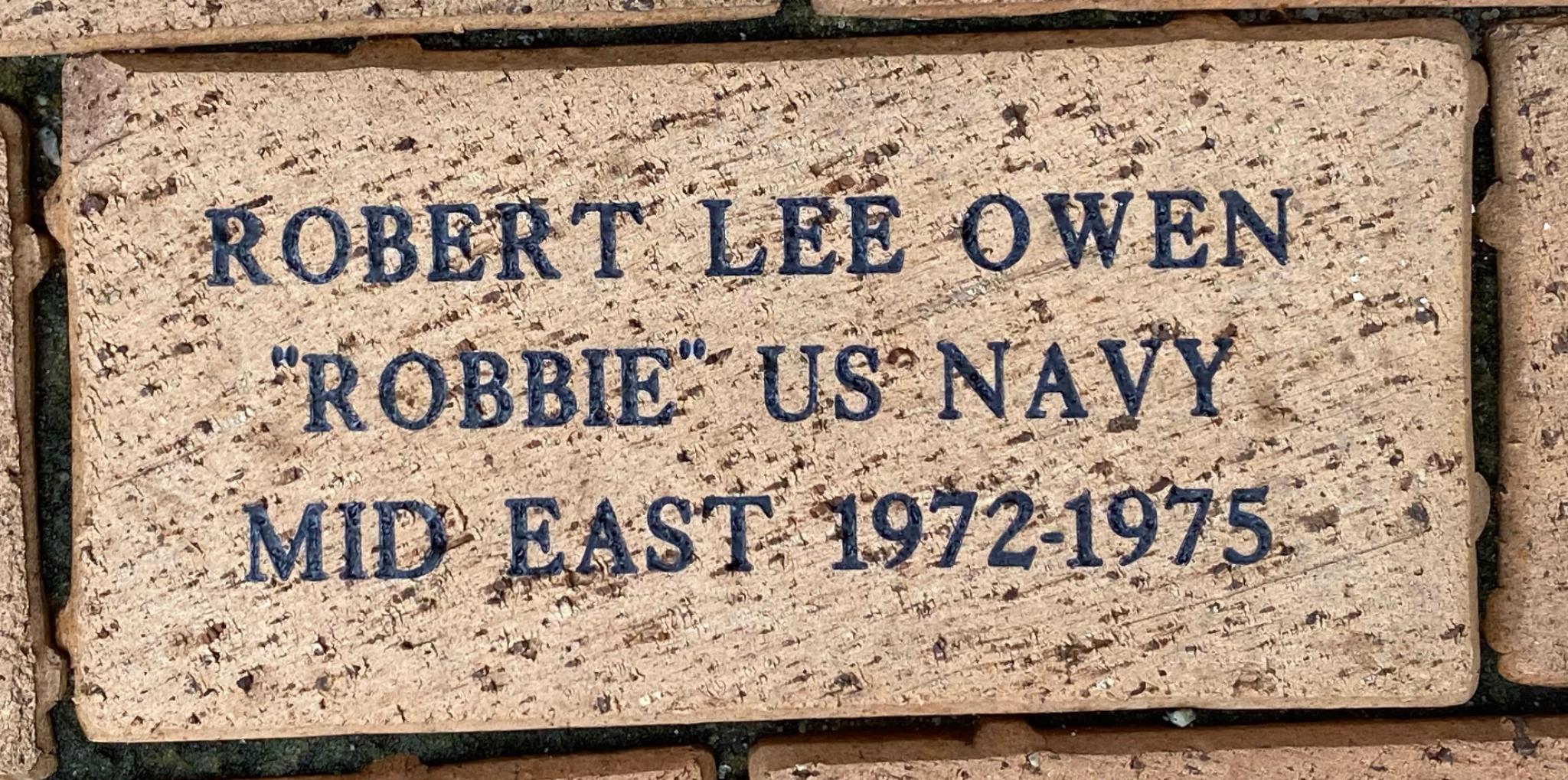 """ROBERT LEE OWEN """"""""ROBBIE"""""""" US NAVY MID EAST 1972-1975"""